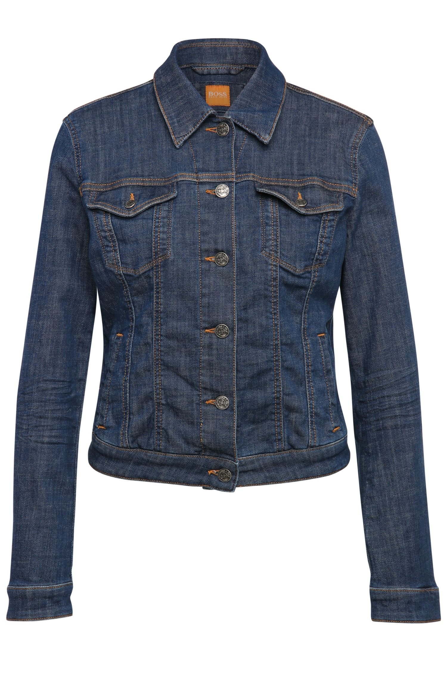 Jeans jacket in stretch cotton blend: 'JEANS_JACKET_H'