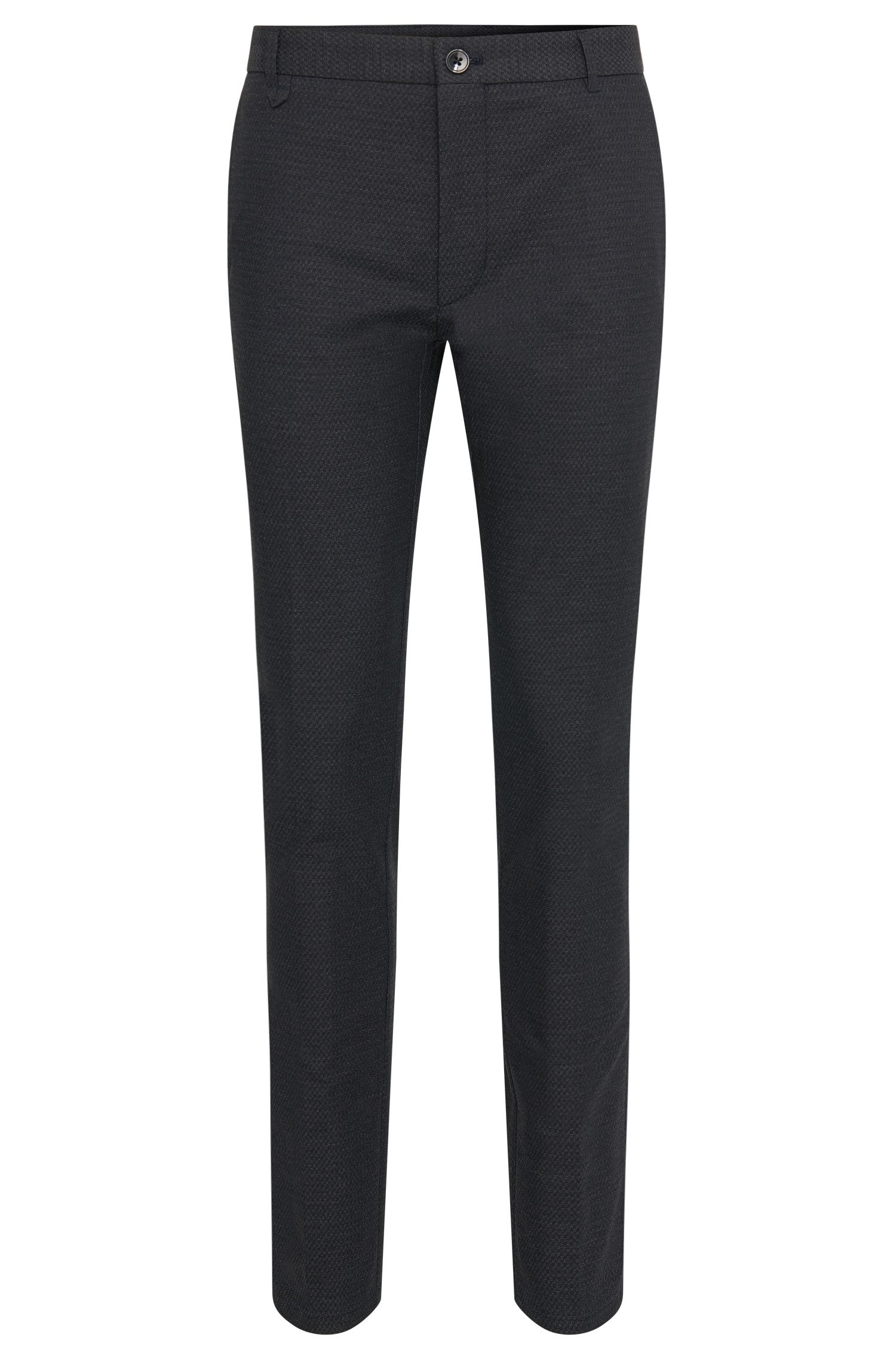 Finely patterned extra slim-fit trousers in cotton blend: 'Heldor1'