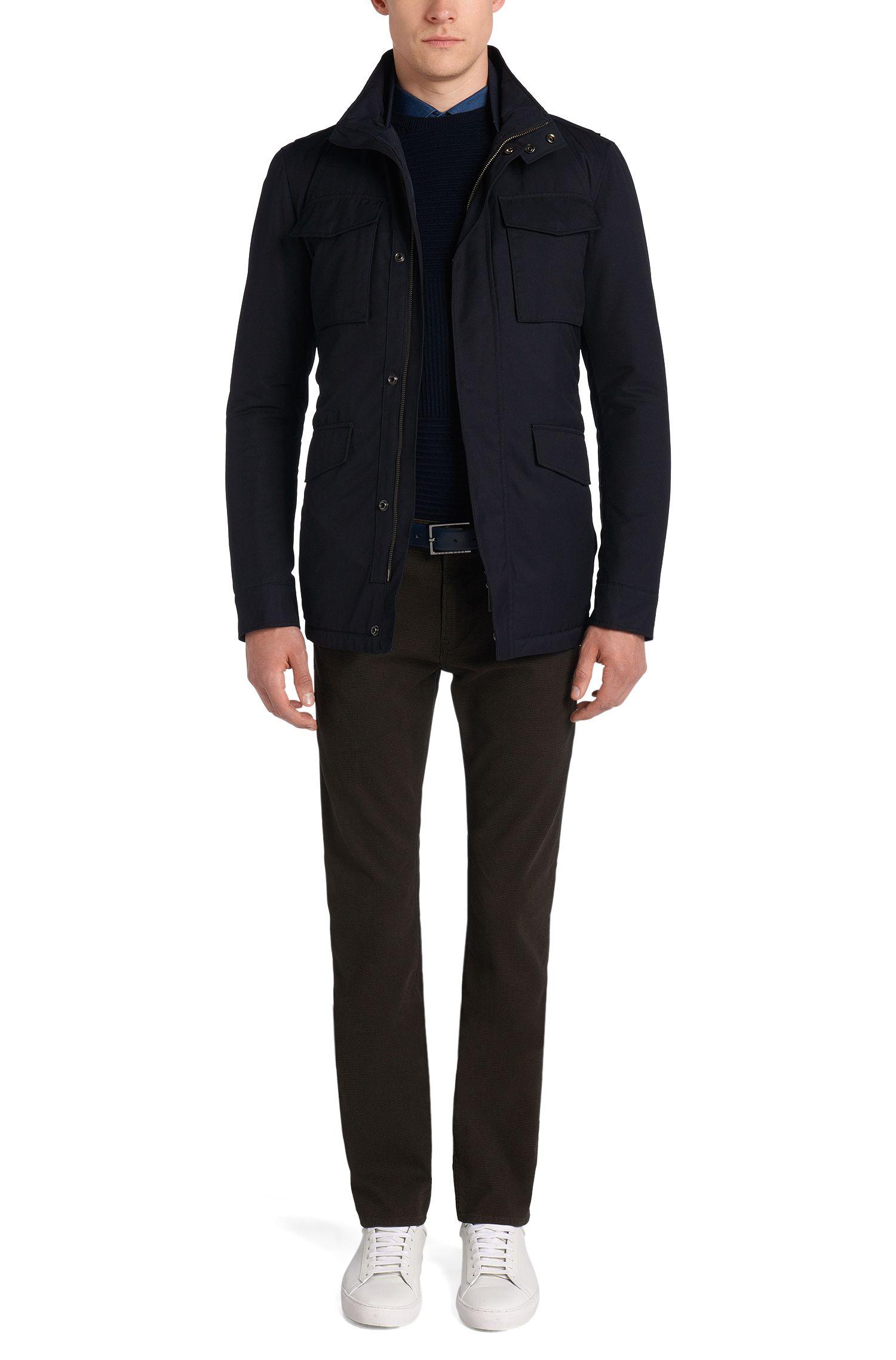 Waterafstotende jas met tunnelkoord: 'Centin'