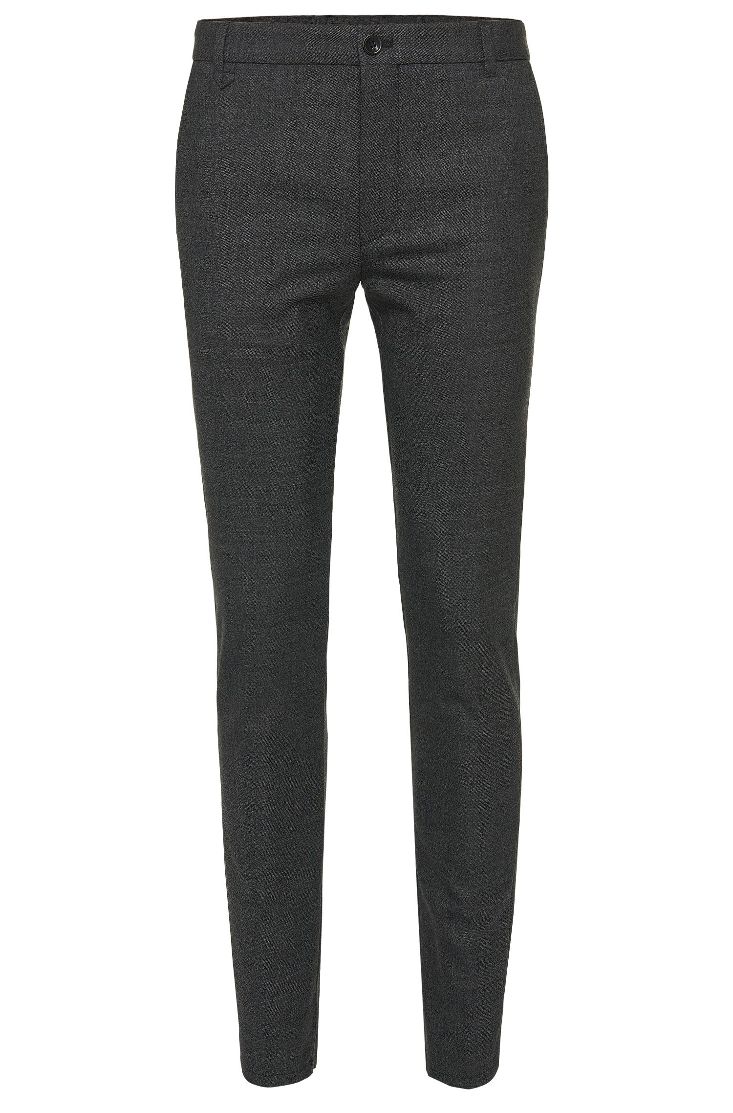 Mottled extra slim-fit trousers in new-wool blend: 'Heldor1'