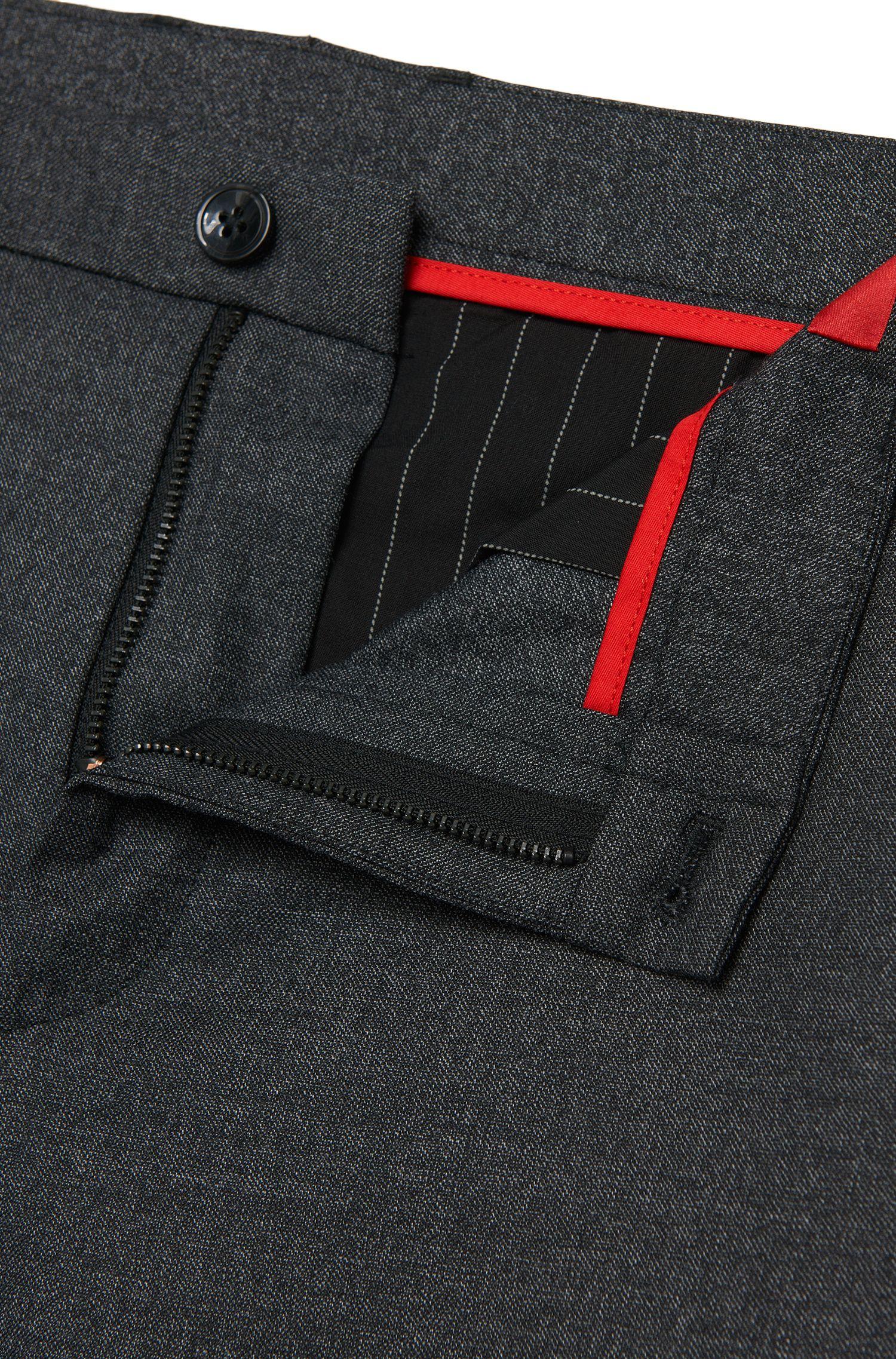 Gemêleerde extra slim-fit broek van een scheerwolmix: 'Heldor1'