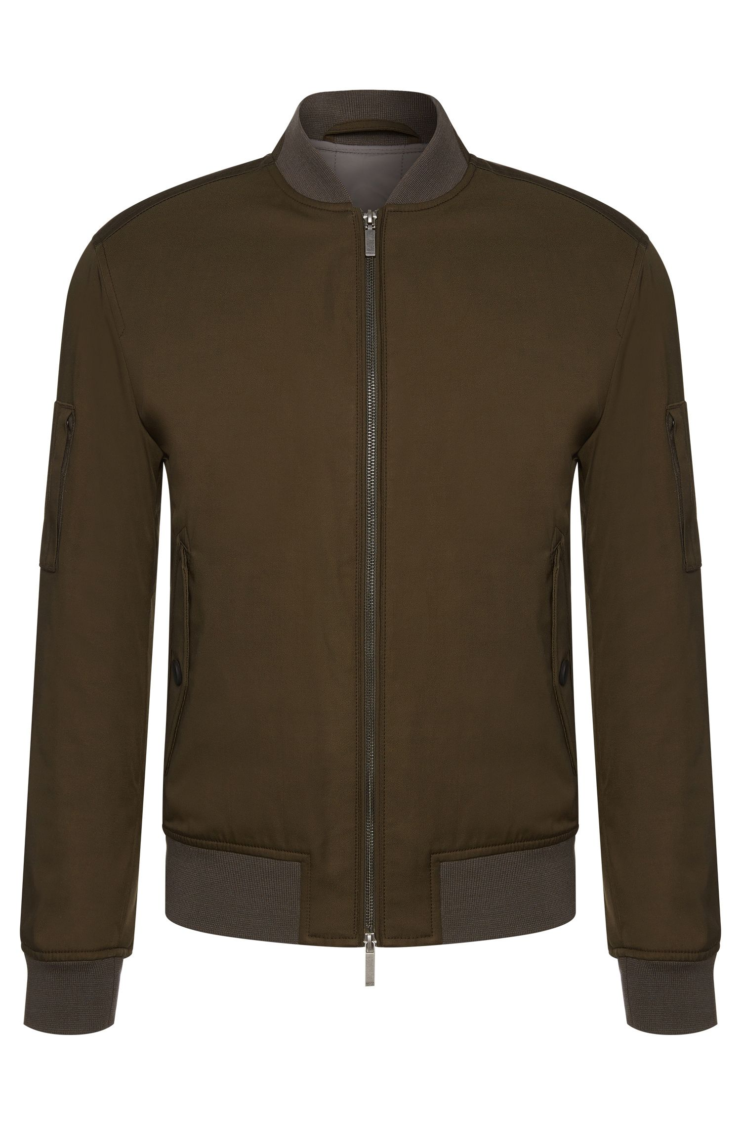 Fabric-blend jacket in bomber-jacket style: 'Clone'
