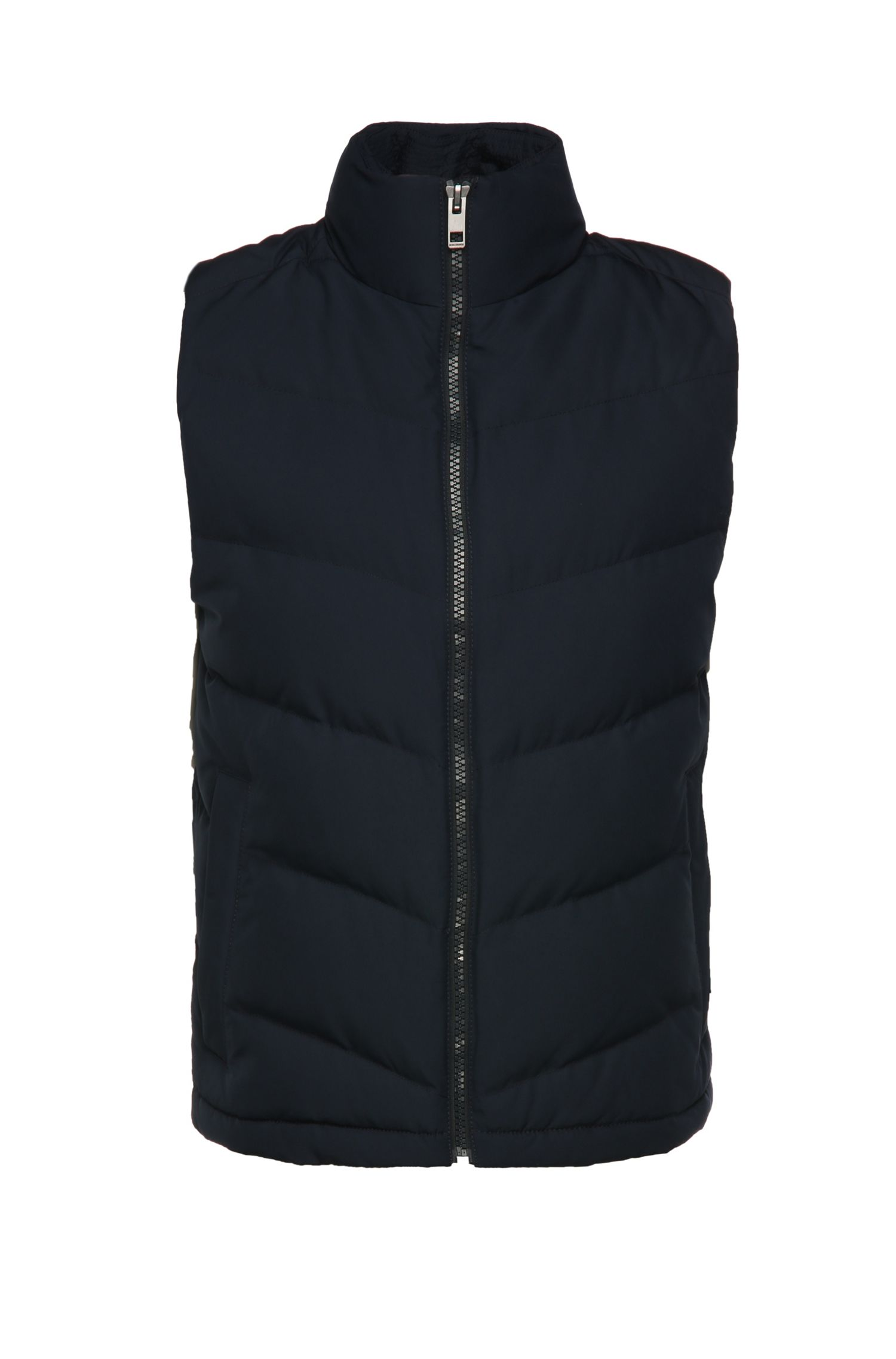 Gilet trapuntato regular fit con colletto alla coreana: 'Oevan'