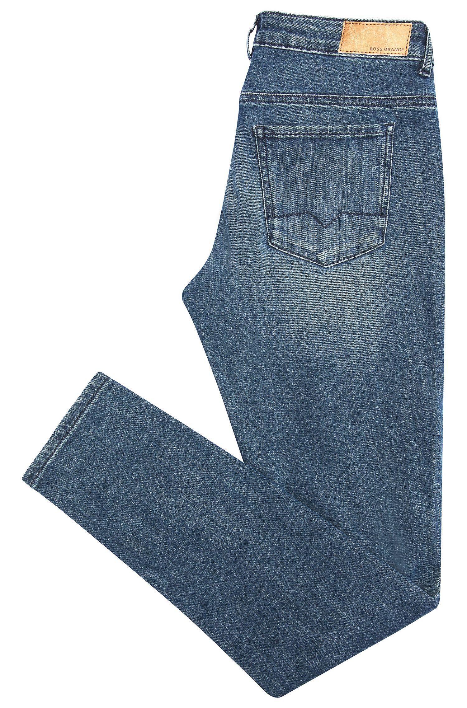 Slim-fit jeans van een elastische katoenmix: 'Orange J20 Berlin'