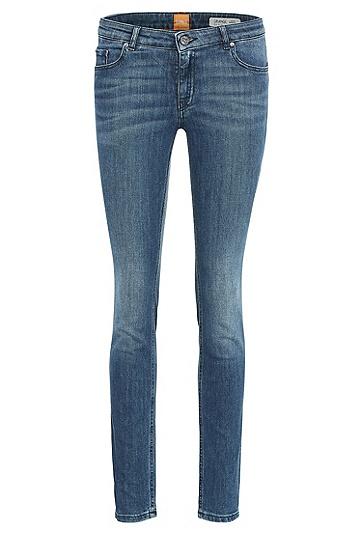 Slim-Fit Jeans aus elastischem Baumwoll-Mix: ´Orange J20 Berlin`, Blau