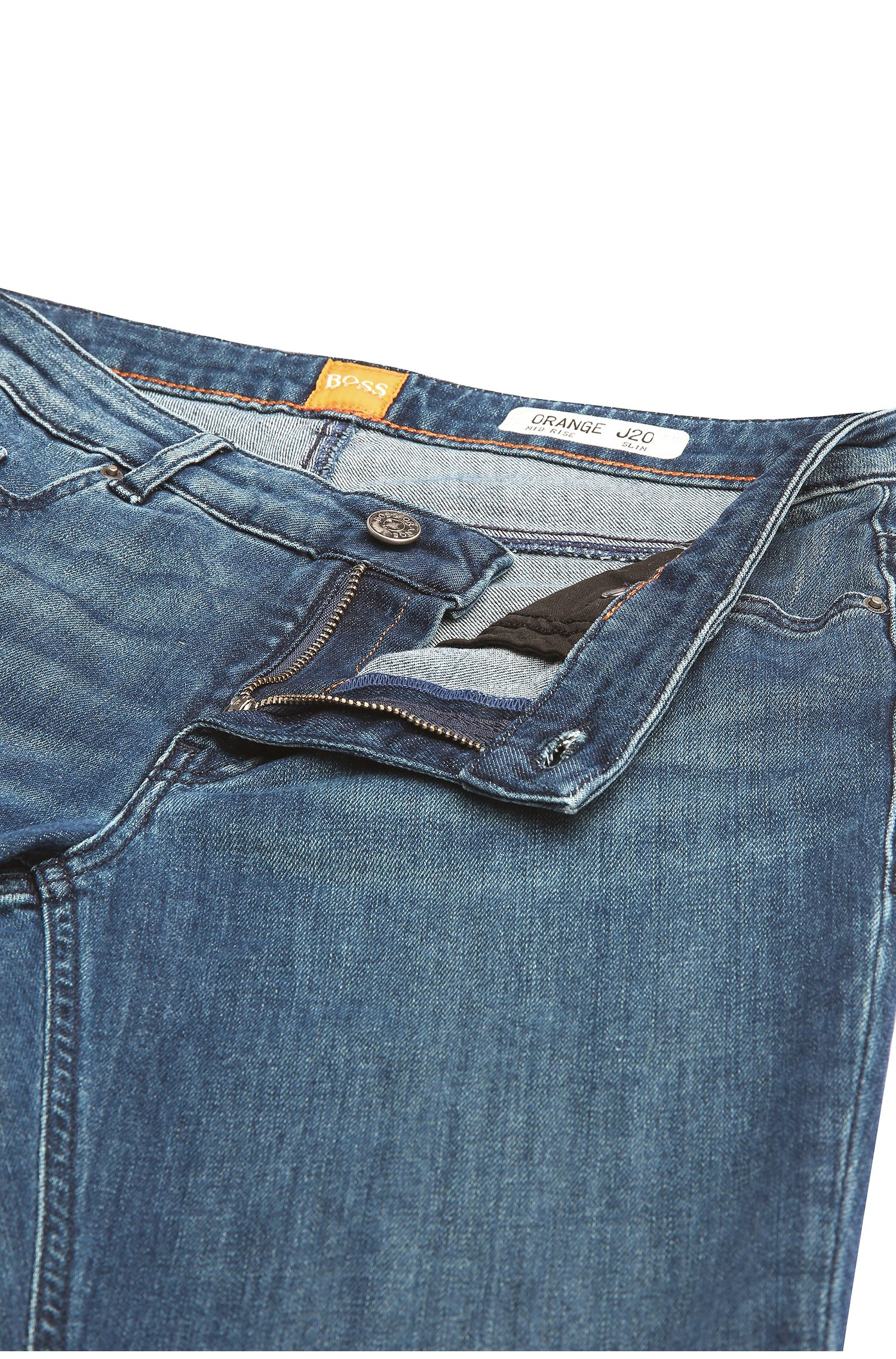 Slim-Fit Jeans aus elastischem Baumwoll-Mix: ´Orange J20 Berlin`