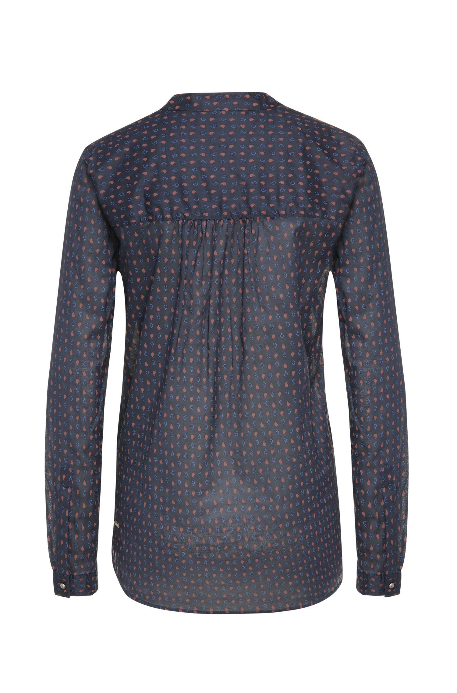Relaxed-fit blouse van katoen met dessin: 'Efivee_7'