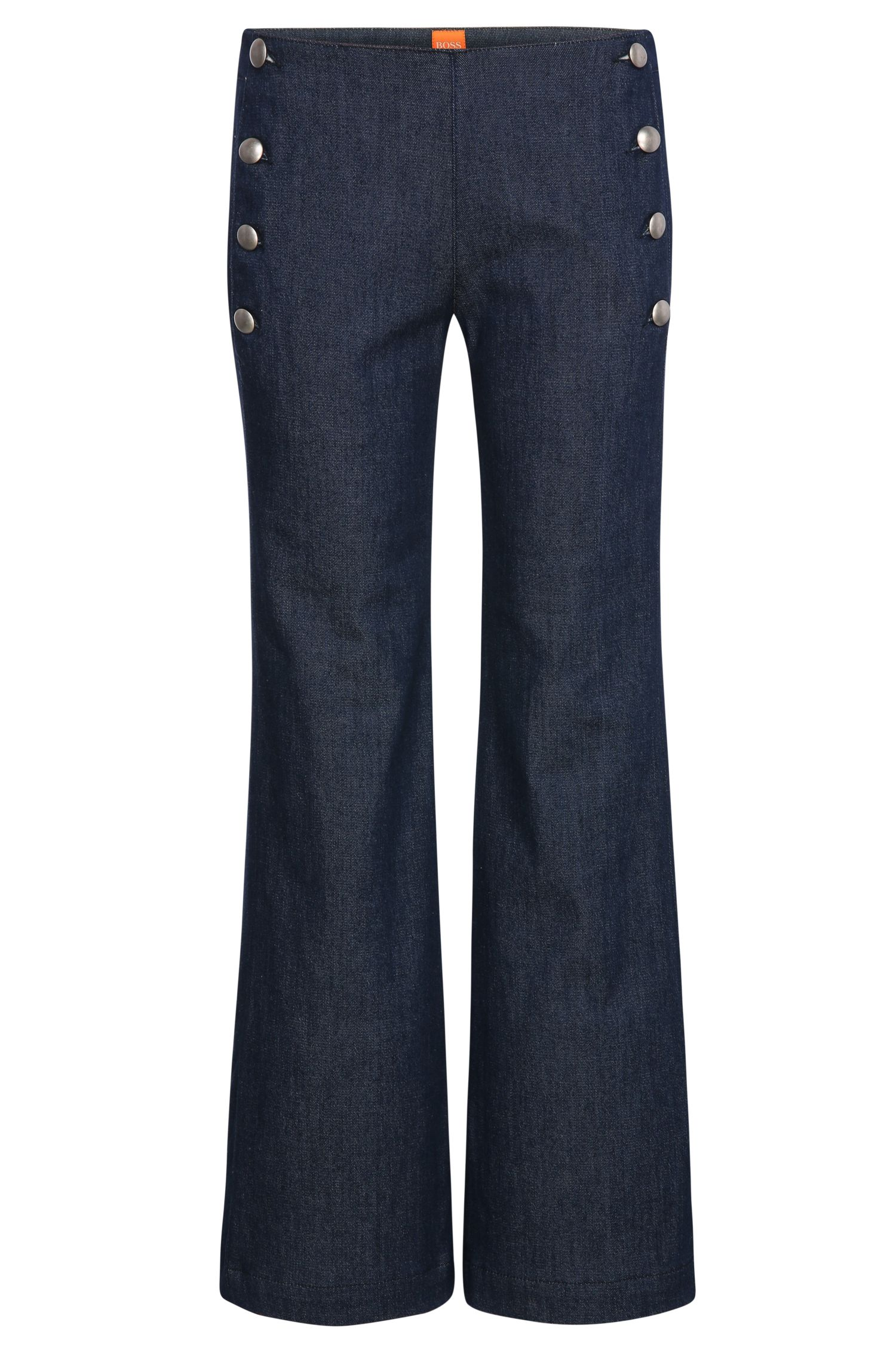 Flared Leg Denim aus Modal-Mix mit Baumwolle und Elasthan: ´Orange J50 Bruges`