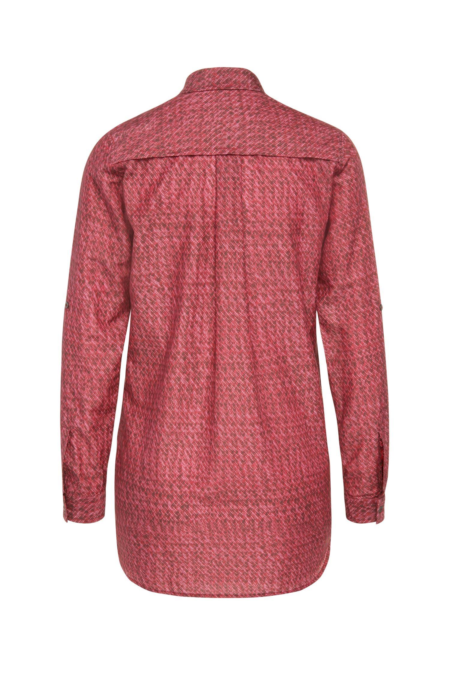 Gemusterte Relaxed-Fit Bluse aus Baumwoll-Mix mit Seide: ´Chrisler_2`