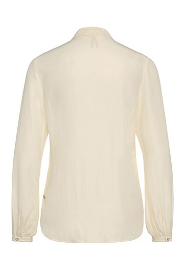 Relaxed-Fit Seidenbluse mit Schluppe: ´Casi`, Natur