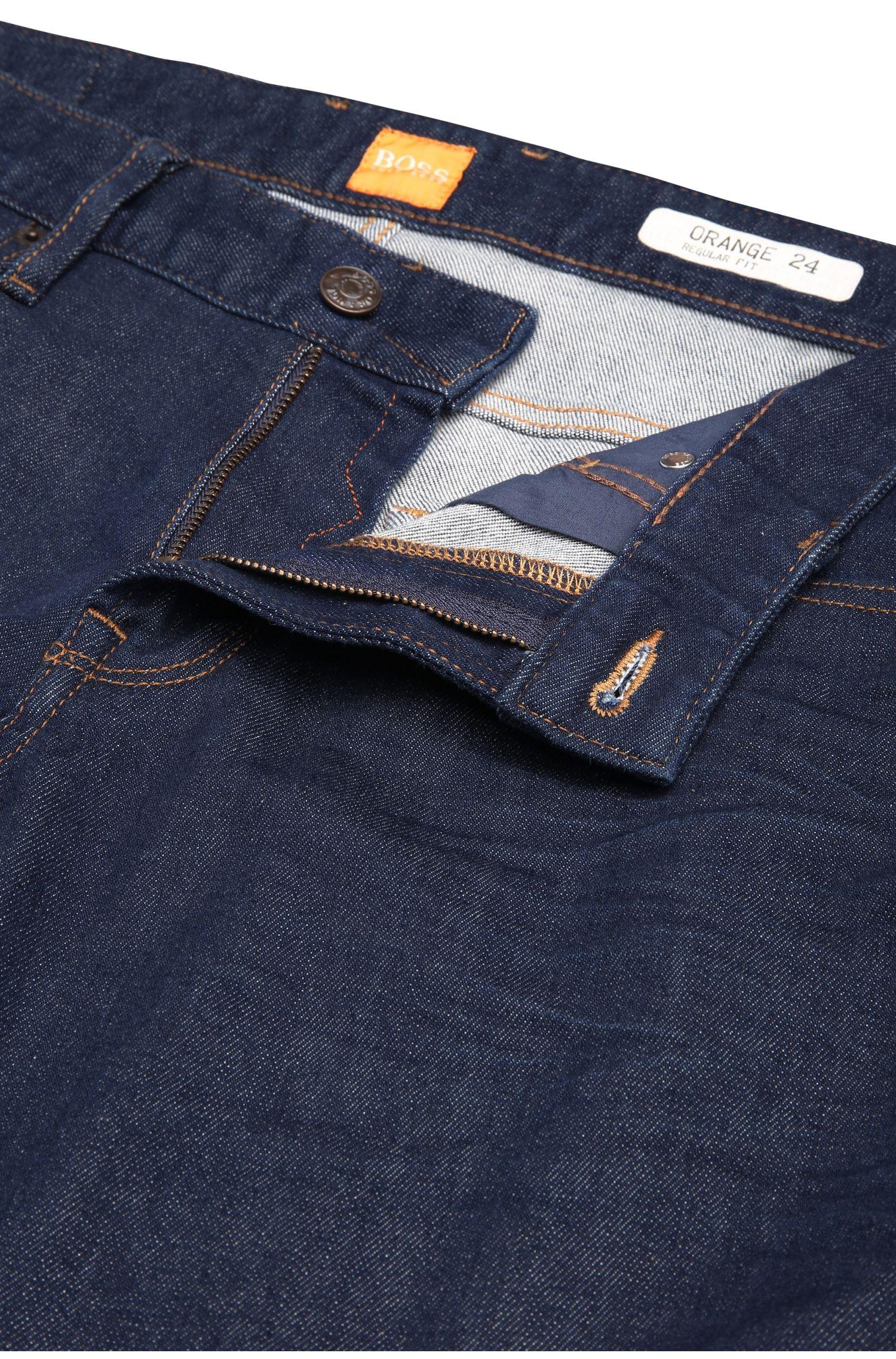 Jeans Regular Fit en coton mélangé extensible: «Orange24Barcelona»
