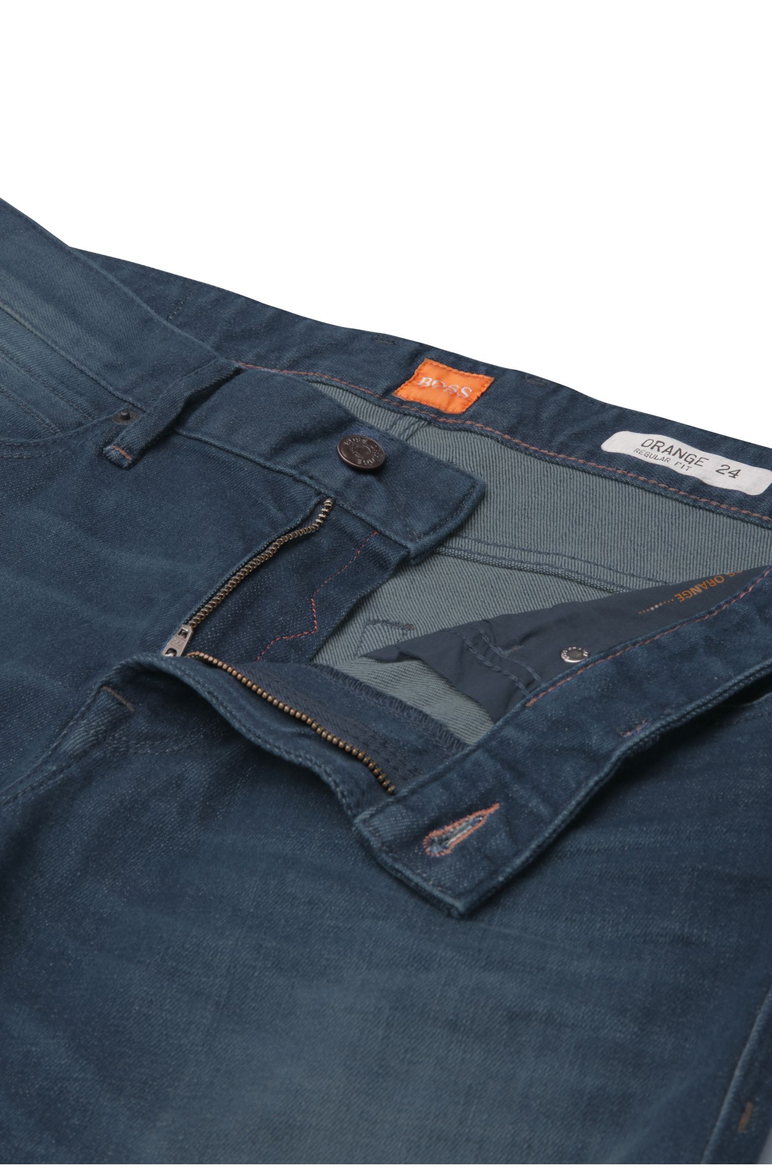 Regular-Fit Jeans aus einem Baumwoll-Mix mit Elasthan: ´Orange24 Barcelona`