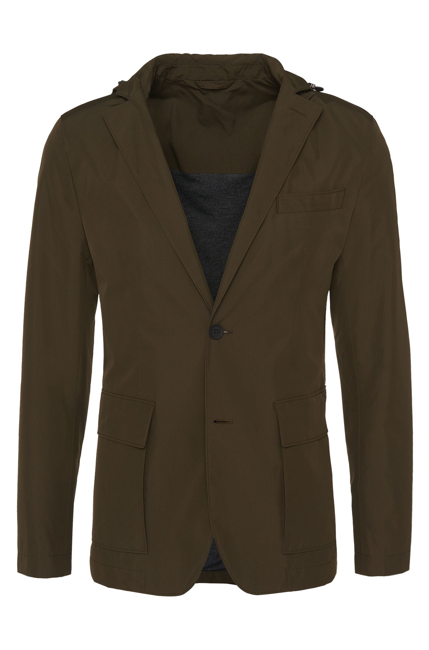 Veste imperméable Slim Fit Travel Line inspirée de la veste de costume : « Nielson »