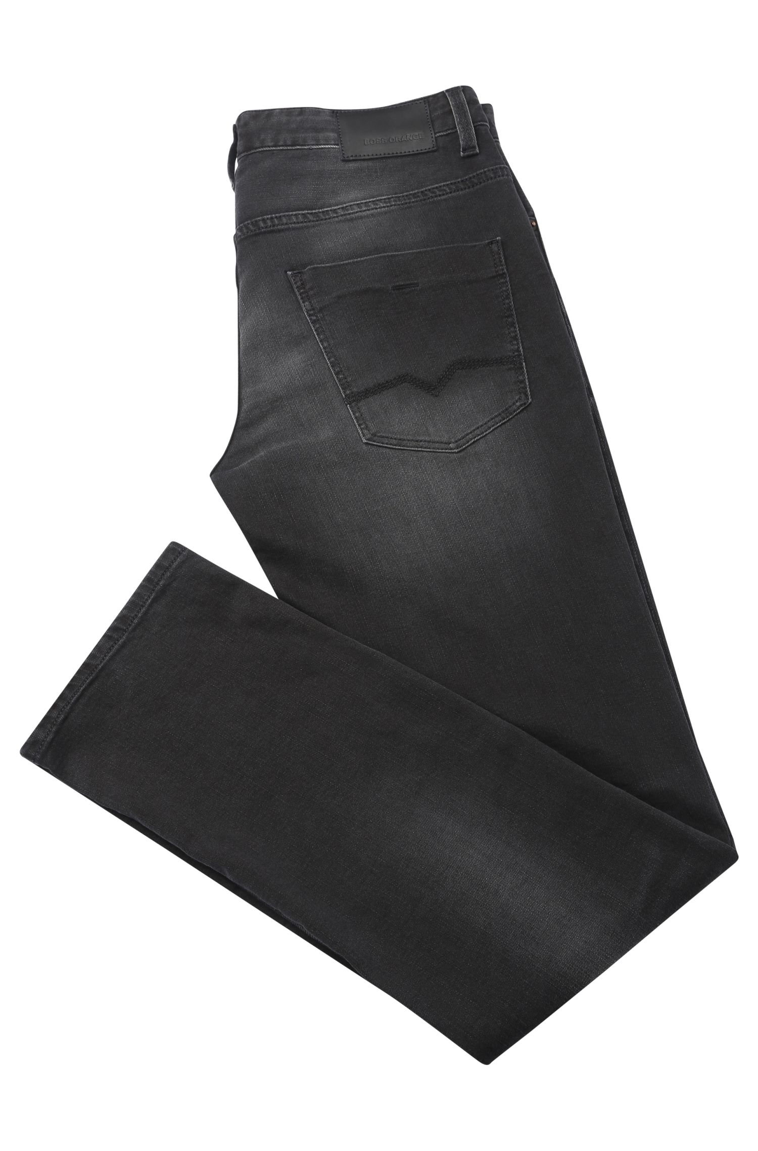 Jeans Slim Fit en coton stretch: «Orange63»