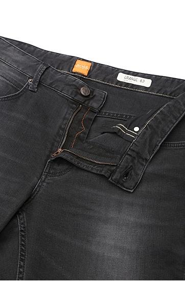 Slim-Fit Jeans aus Stretch-Baumwolle: ´Orange63`, Schwarz