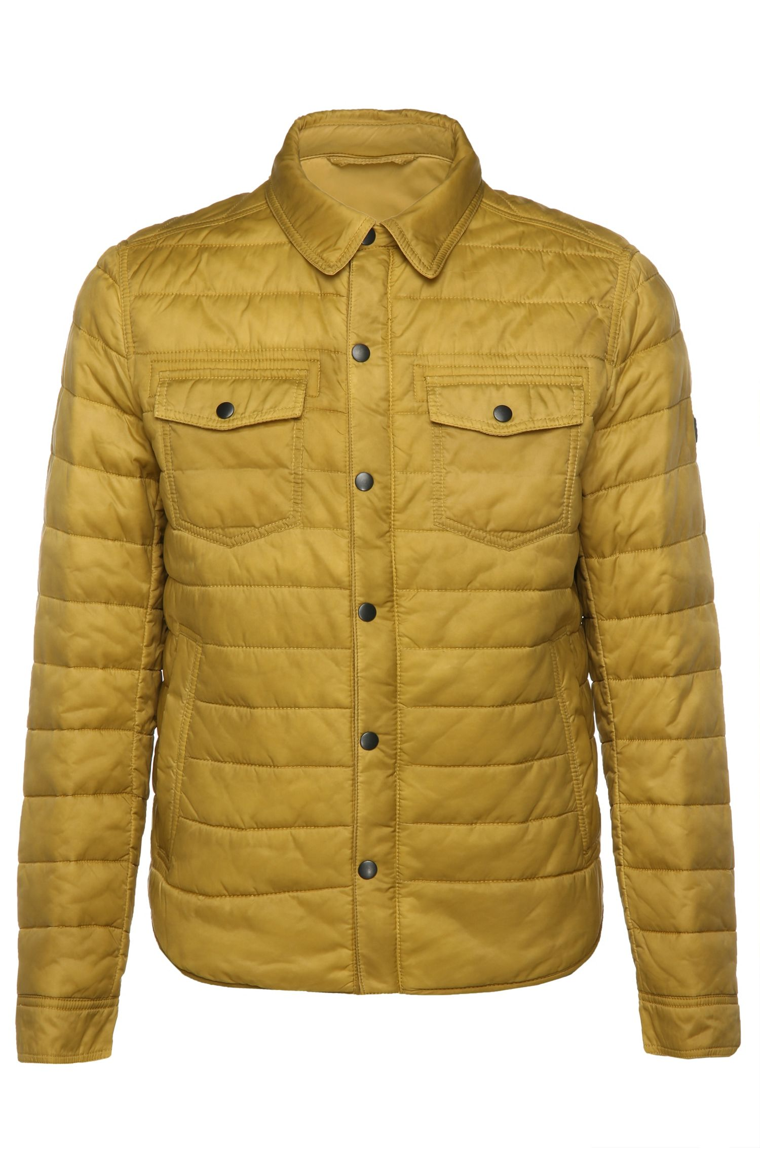 Regular-fit quilted jacket in textured fabric blend: 'Owilder-D'
