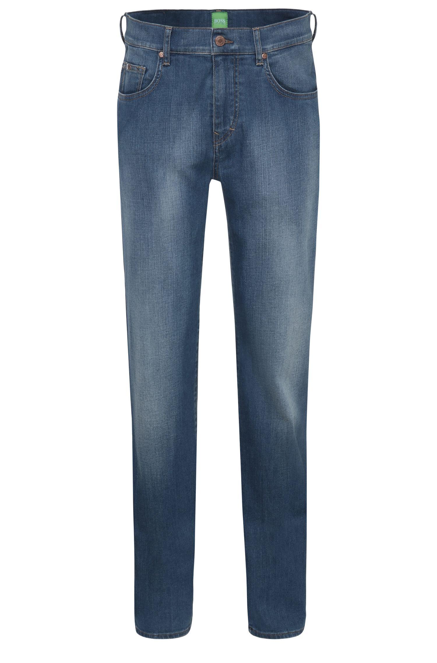 Verwaschene Relaxed-Fit Jeans aus Baumwoll-Mix mit Elasthan: ´C-KANSAS`