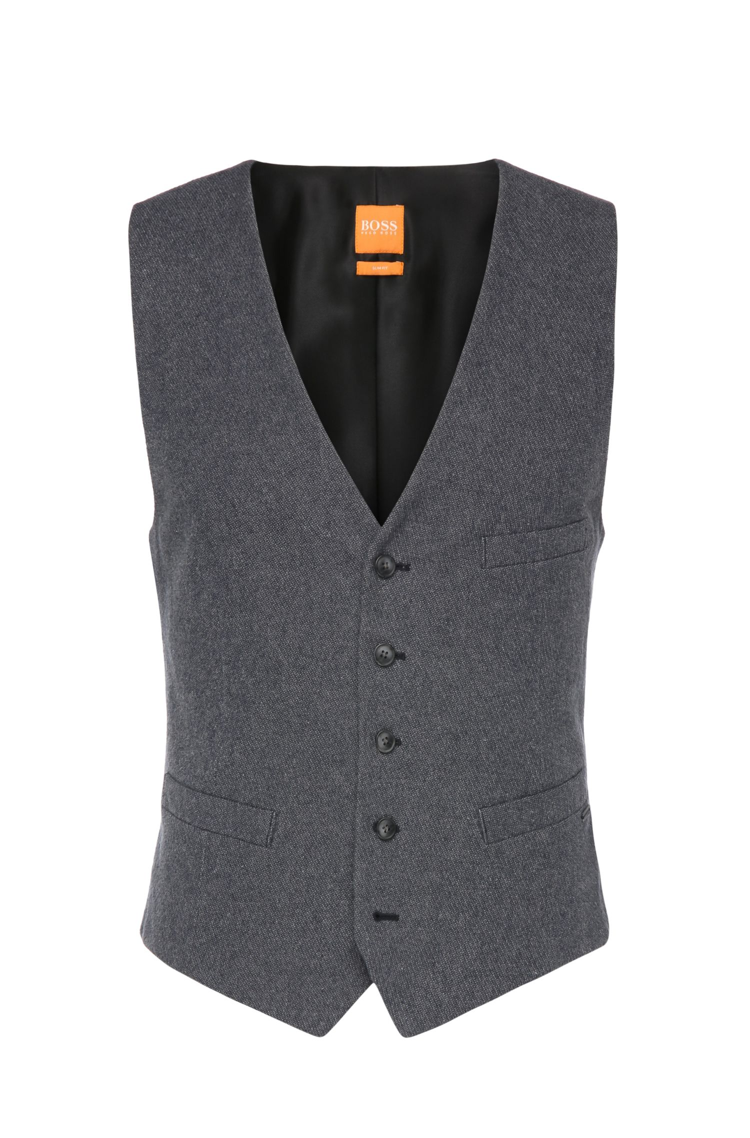 Gilet slim fit in puro cotone: 'Bacer-W'