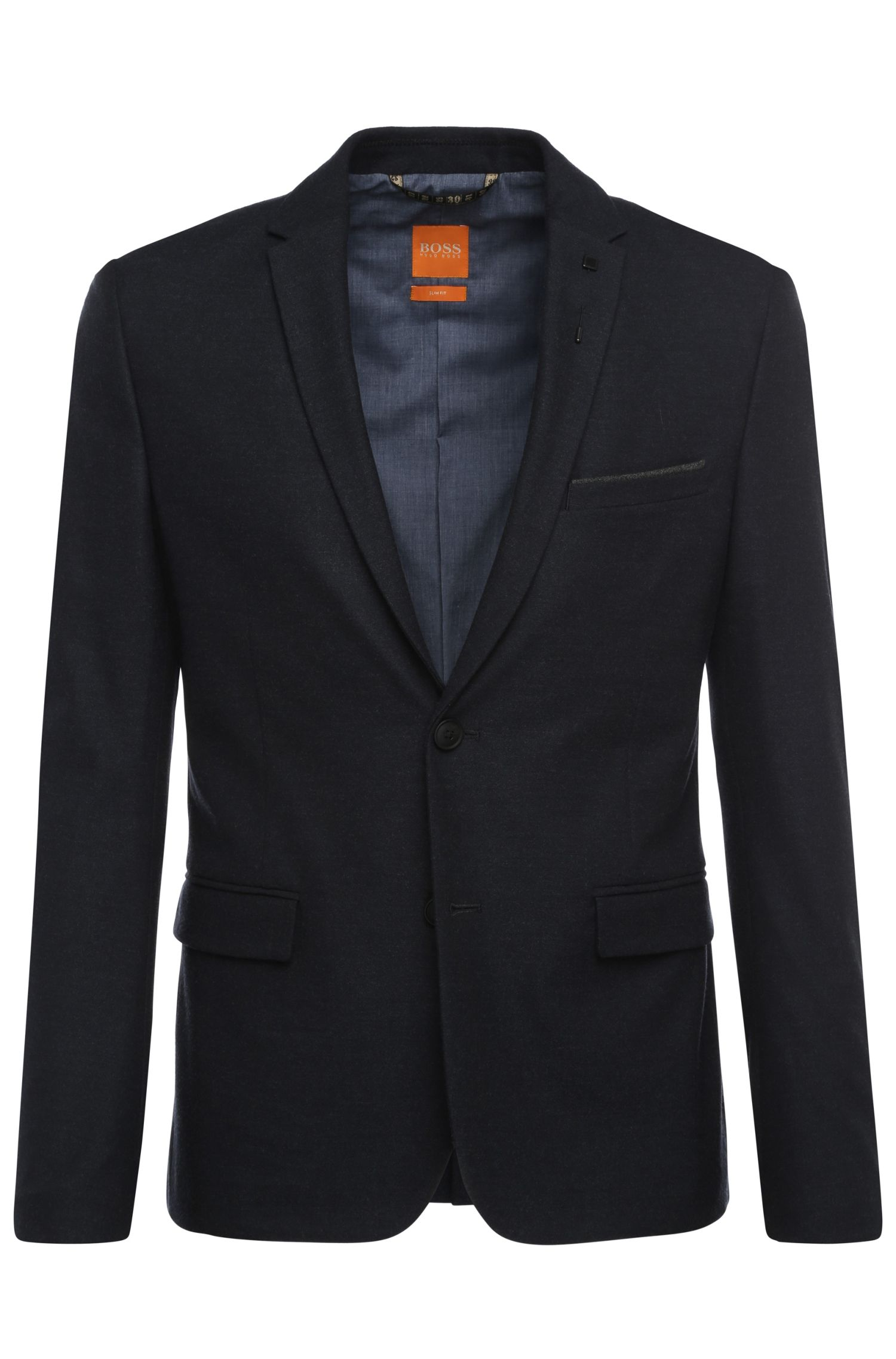Slim-fit jacket in a fabric blend with viscose and elastane: 'Benestretch_BS'