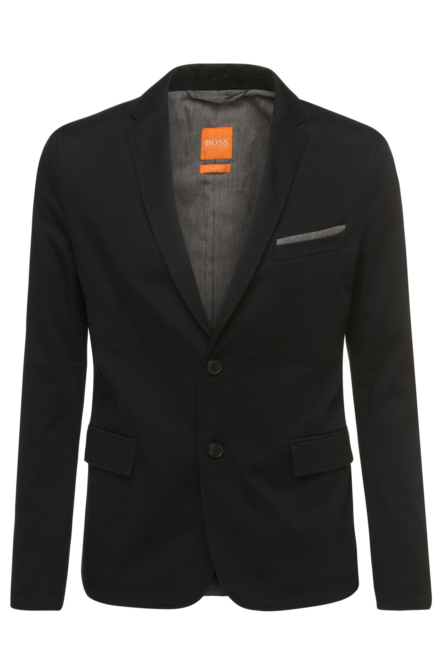 Slim-fit jacket in stretch cotton: 'Benestretch5-W'