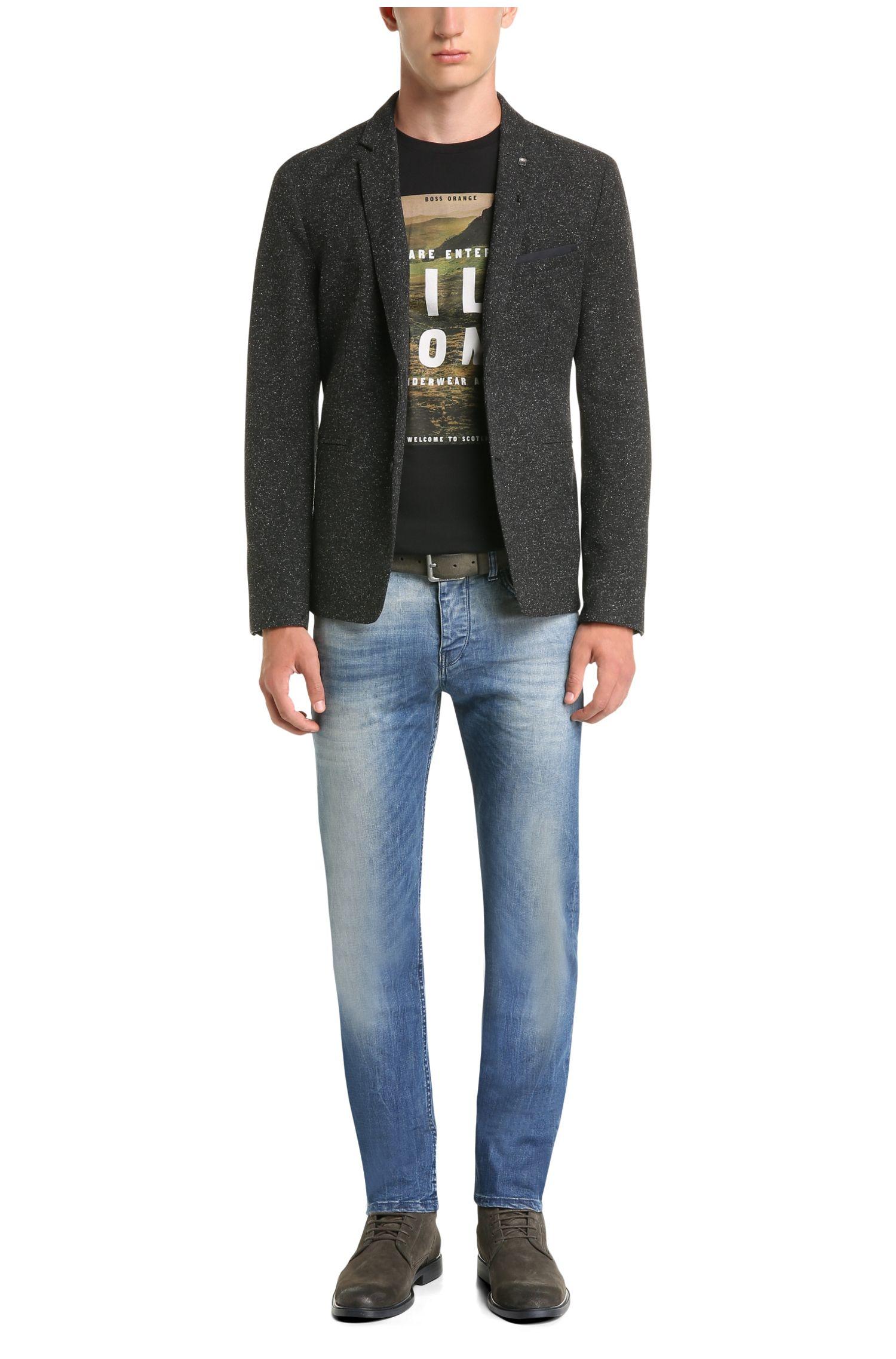 Tapered-fit jeans van een katoenmix: 'Orange90'