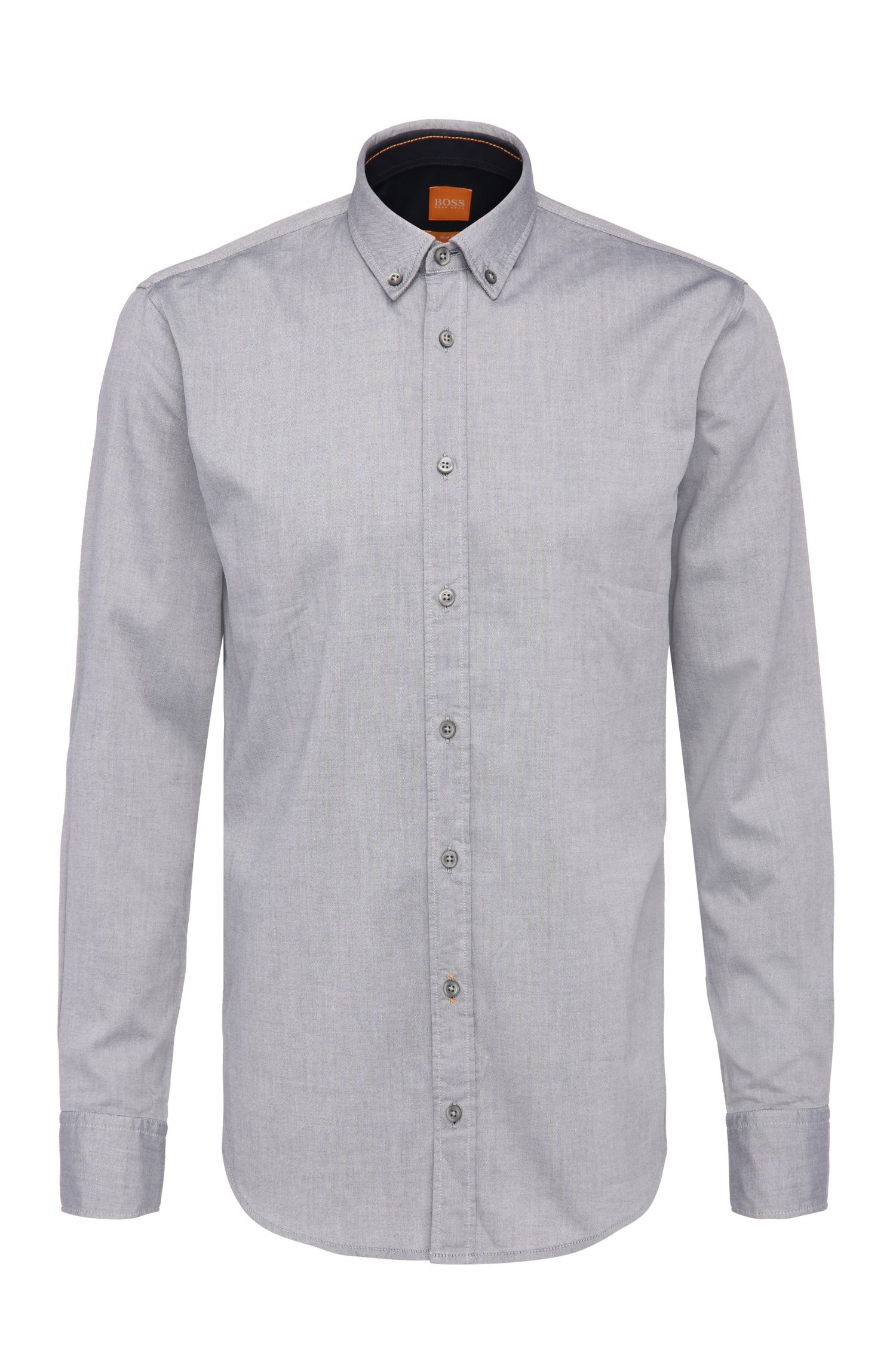 Plain slim-fit cotton shirt: 'EdipoE'