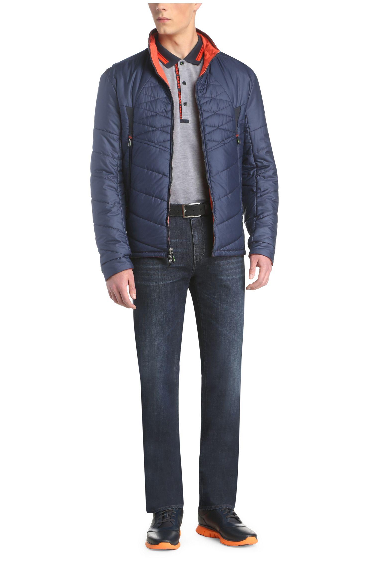 Jeans Comfort Fit en coton extensible avec effets délavés et usés: «C-KANSAS»