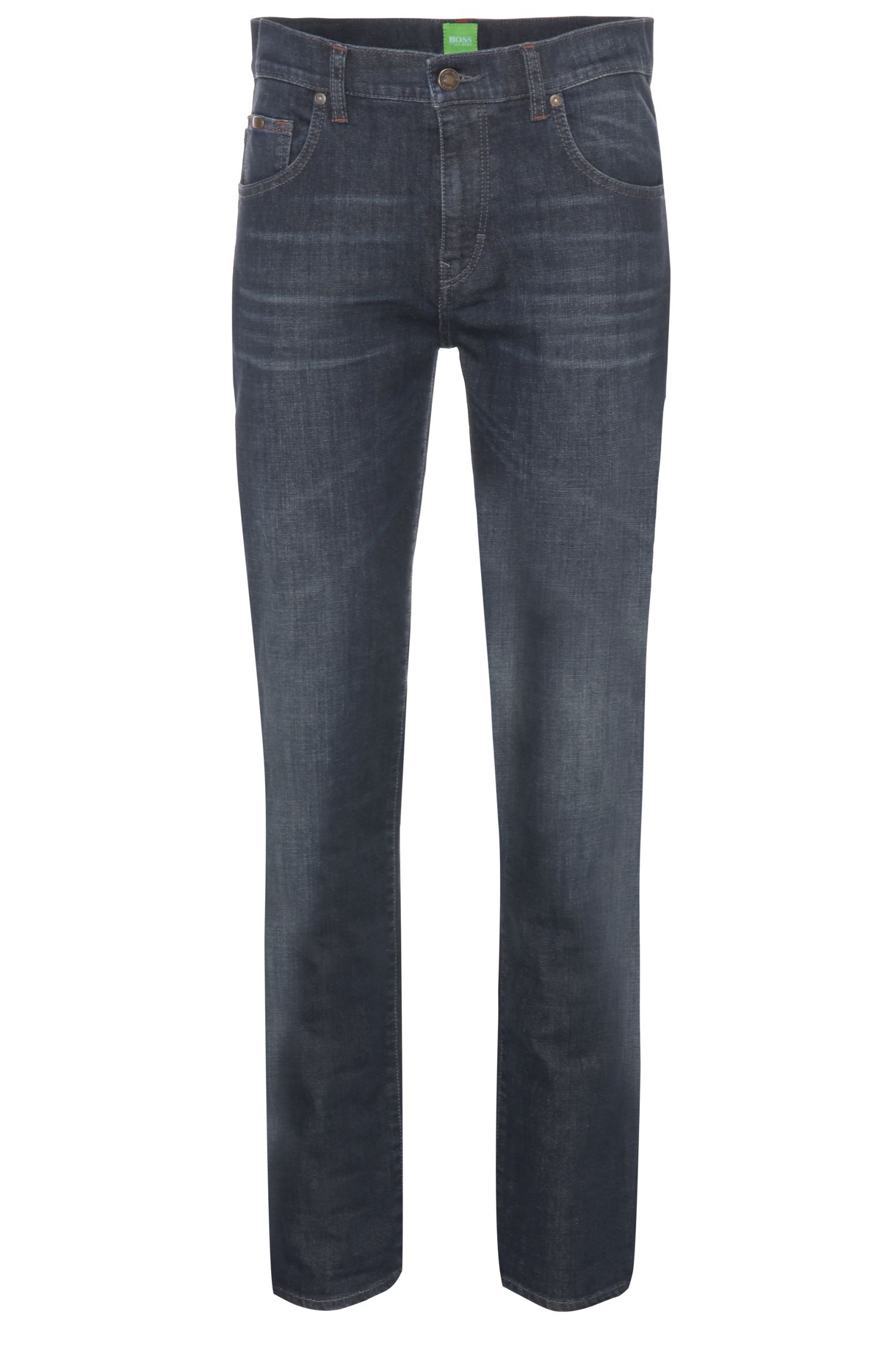 Comfort-Fit Jeans aus elastischer Baumwolle mit Used-Waschung: ´C-KANSAS`