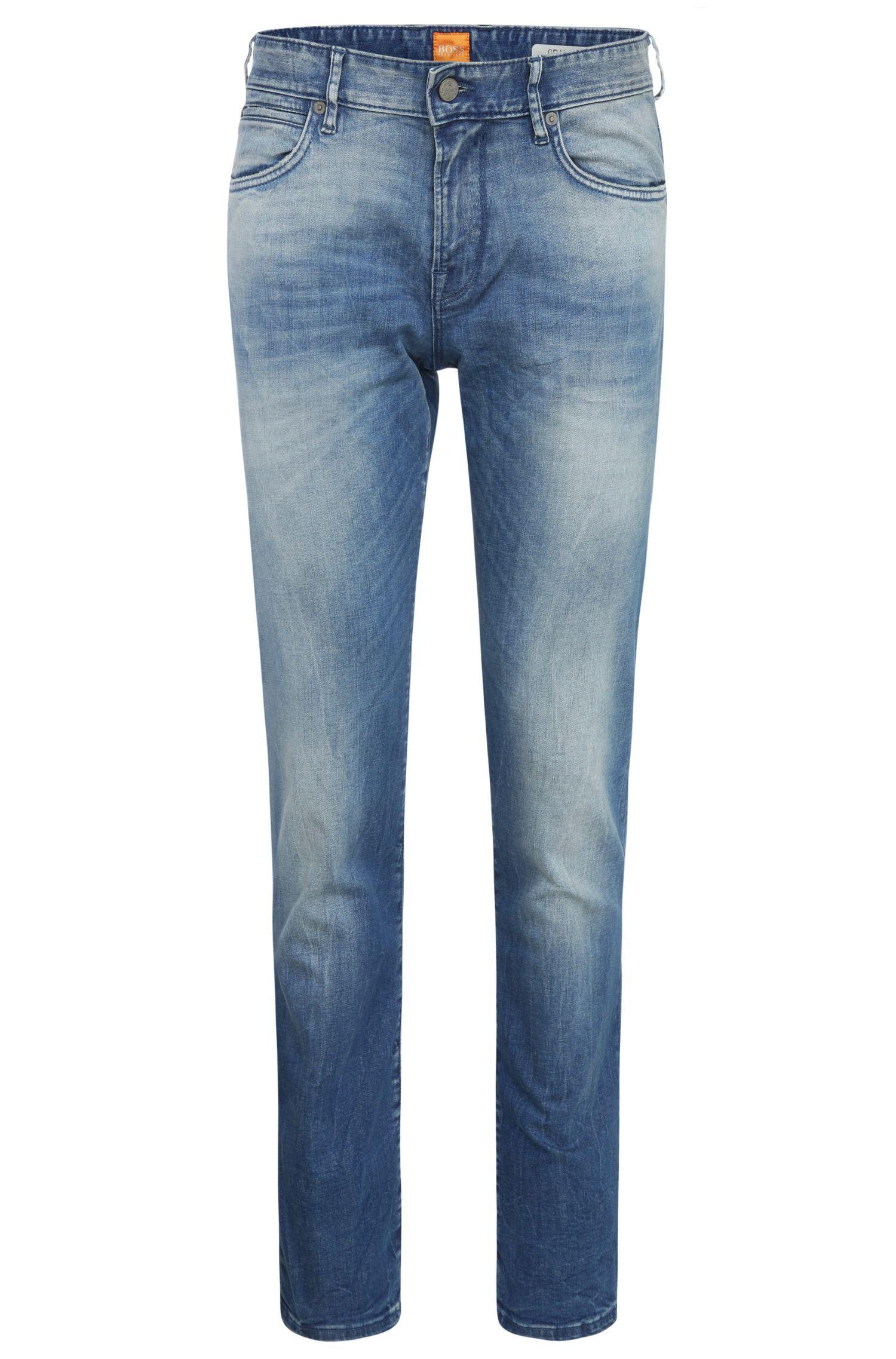 Jeans Regular Fit en coton mélangé délavé: «Orange24Barcelona»