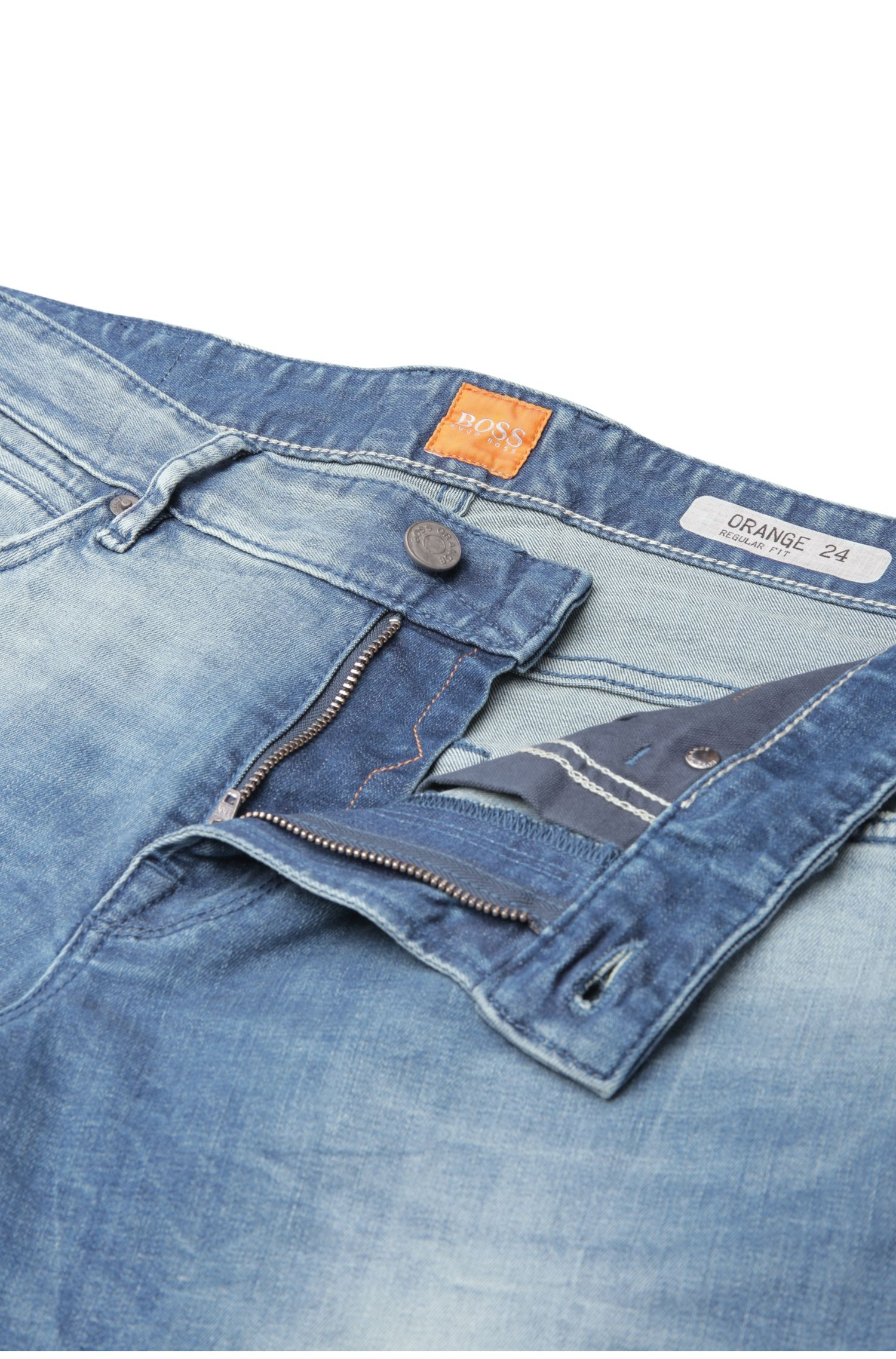 Regular-Fit Jeans aus einem Baumwoll-Mix mit Waschung: ´Orange24 Barcelona`