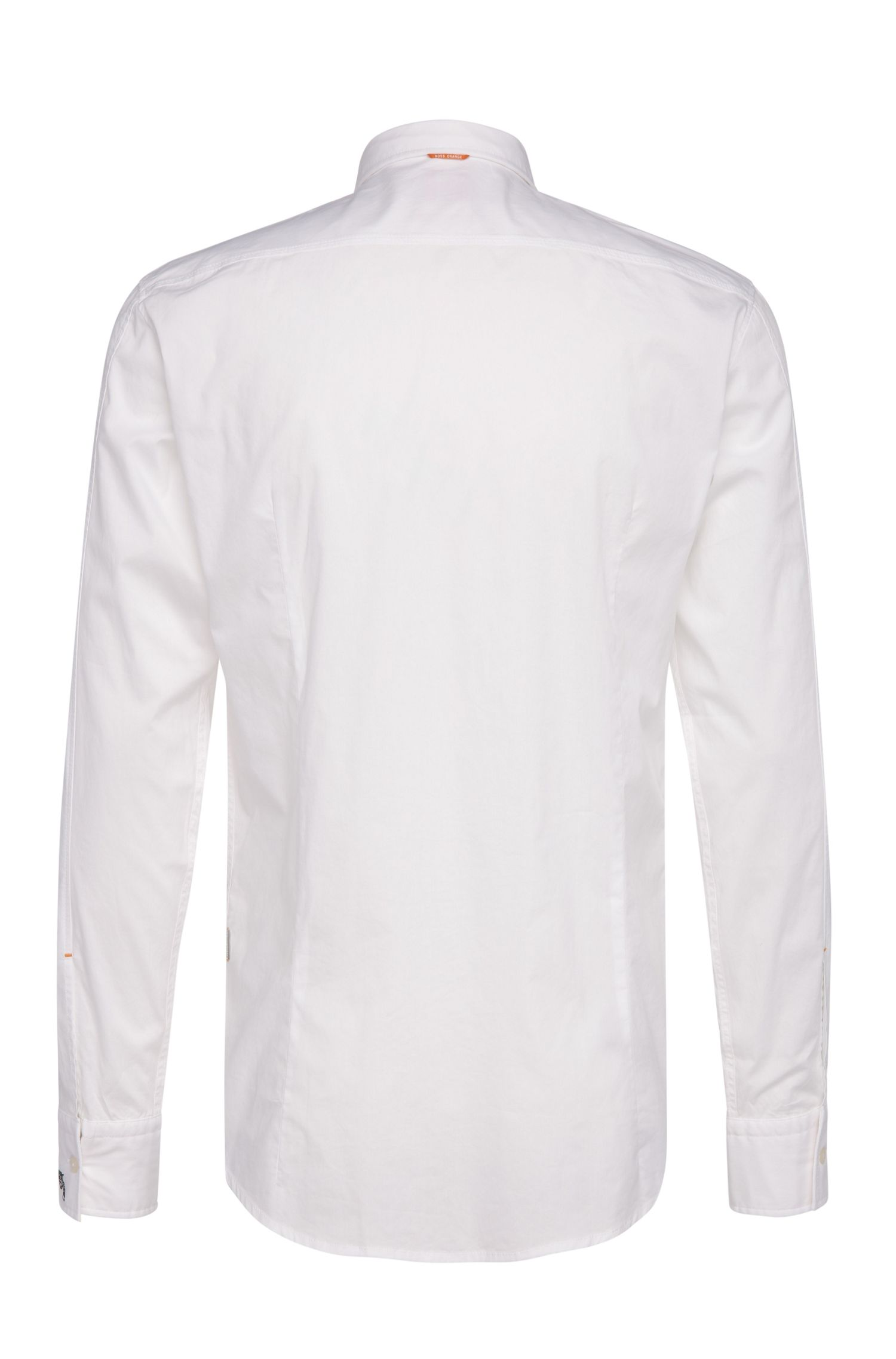 Slim-fit overhemd van een elastische katoenmix: 'EdipoE'