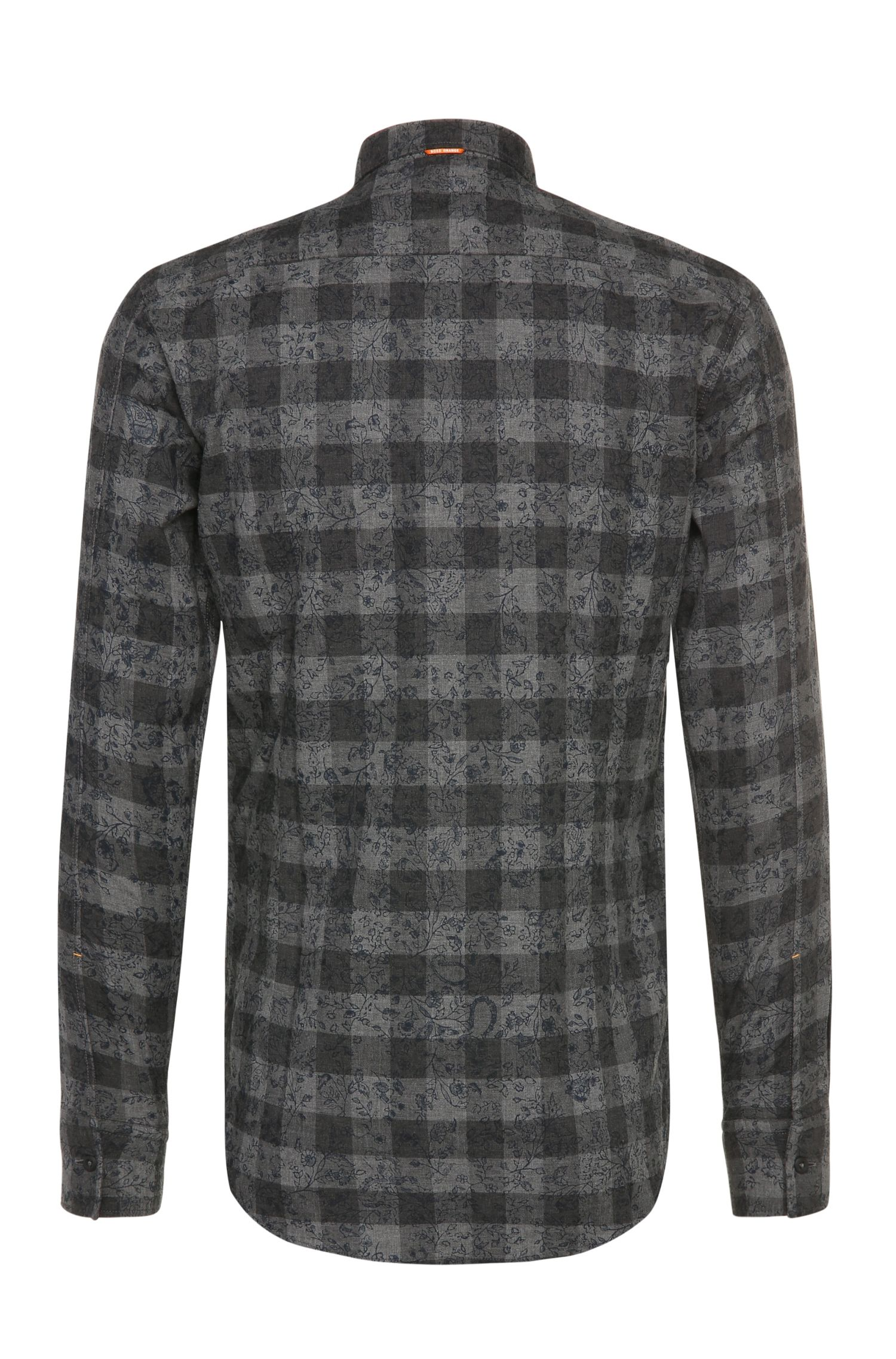 Gemustertes Slim-Fit Flanellhemd aus Baumwolle: ´EdipoE`