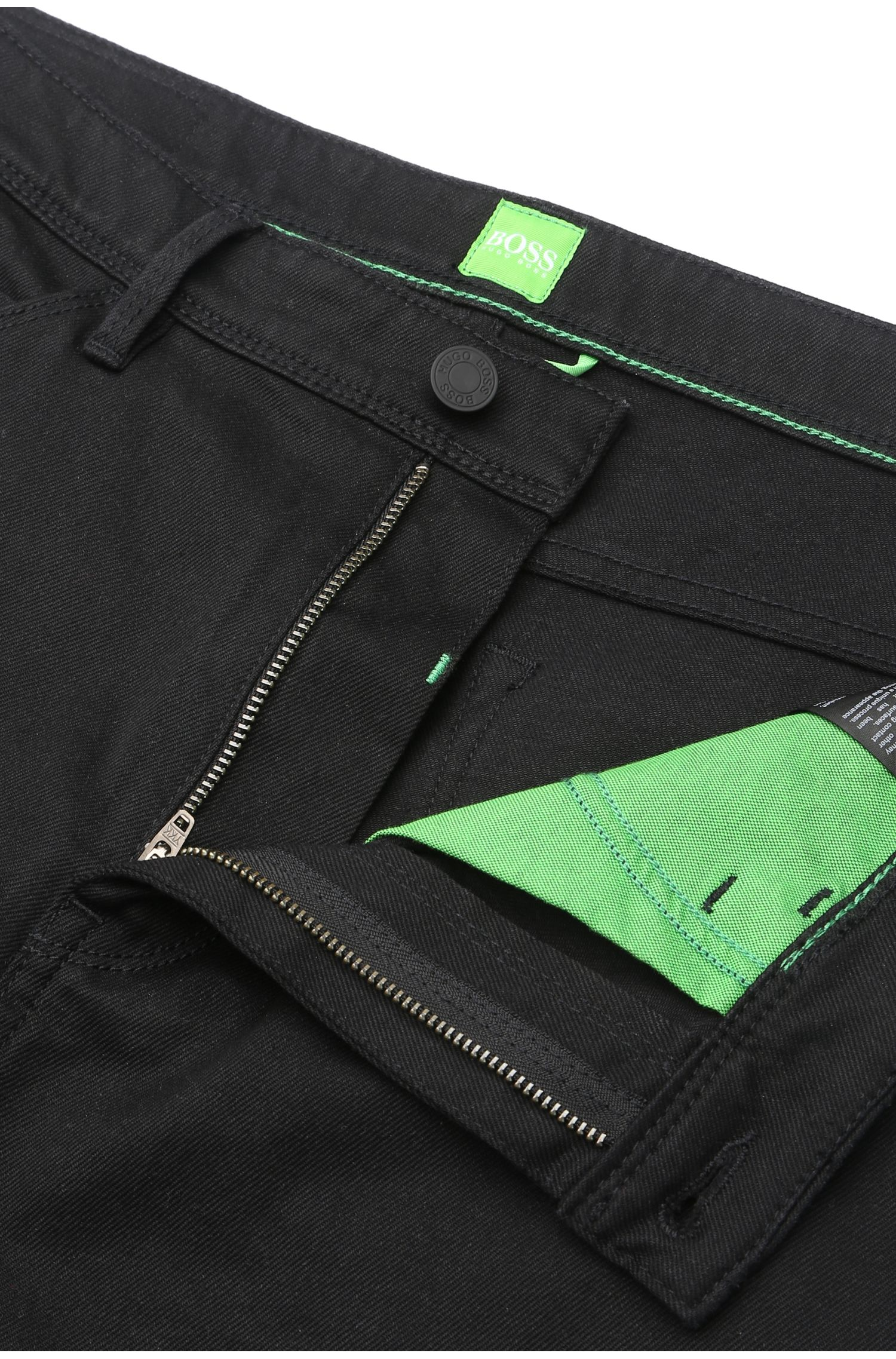 Tapered-Fit Jeans aus elastischer Baumwolle: ´Derek`