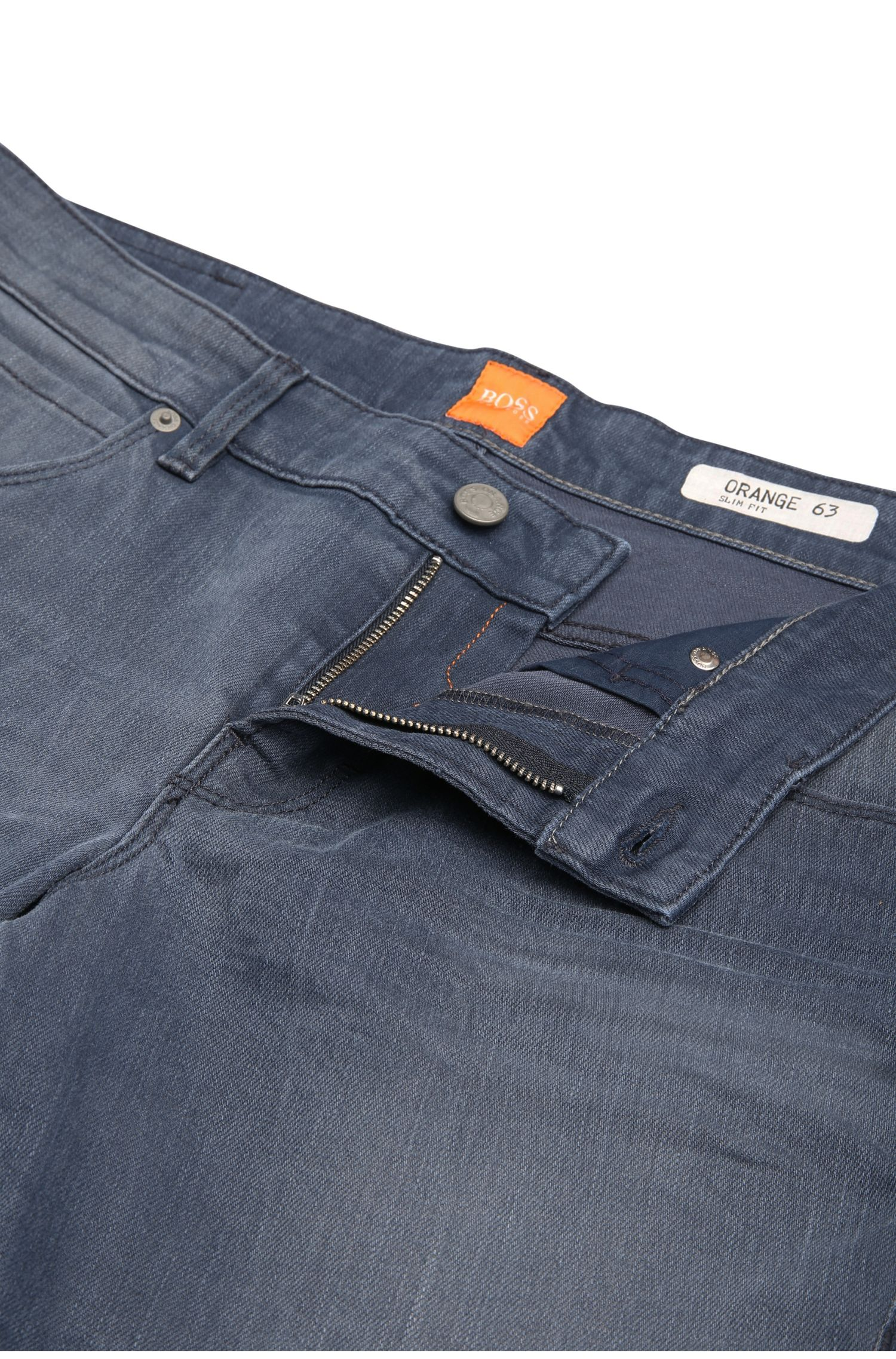Jeans Slim Fit en coton mélangé extensible : « Orange63 »