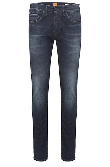 Slim-Fit Jeans aus elastischem Baumwoll-Mix: ´Orange72`, Dunkelblau