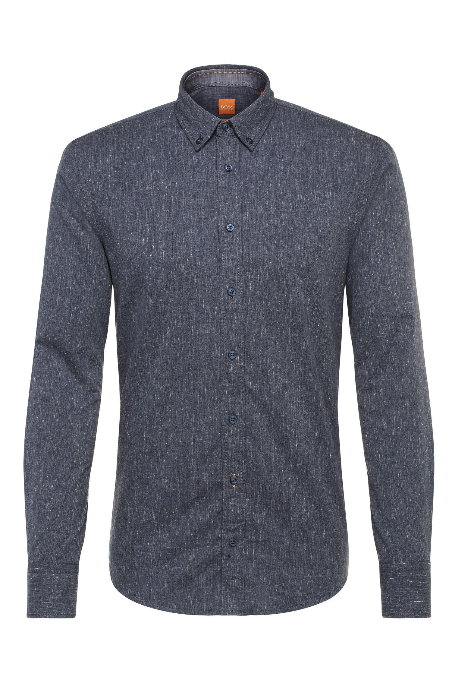Slim-Fit Hemd aus Baumwolle im Denim-Look: ´EdipoE`