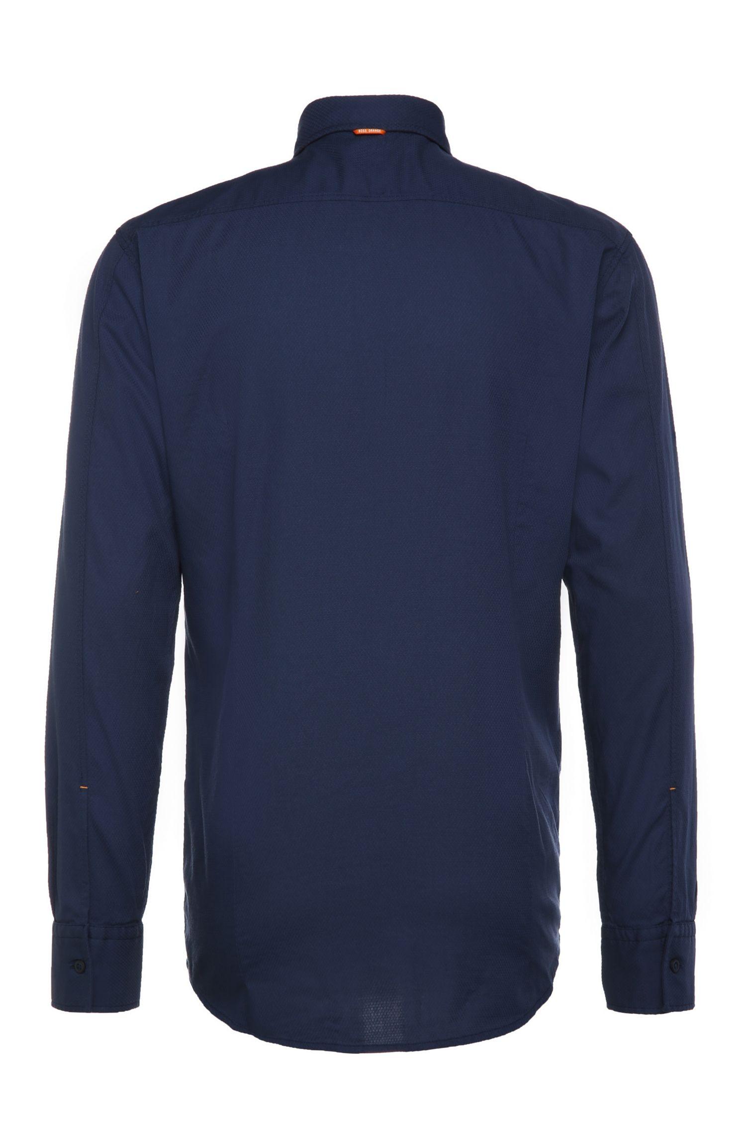 Slim-Fit Hemd aus dezent gemusterter Baumwolle: ´EdipoE`