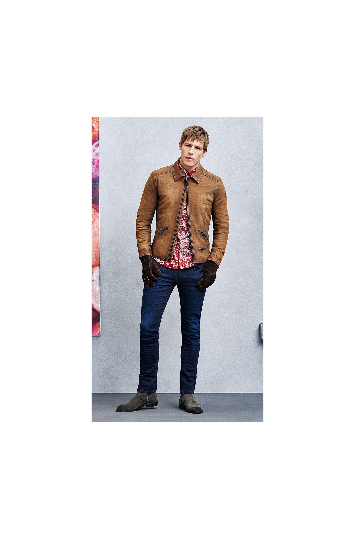 Jeans SkinnyFit en coton mélangé extensible: «Orange72»