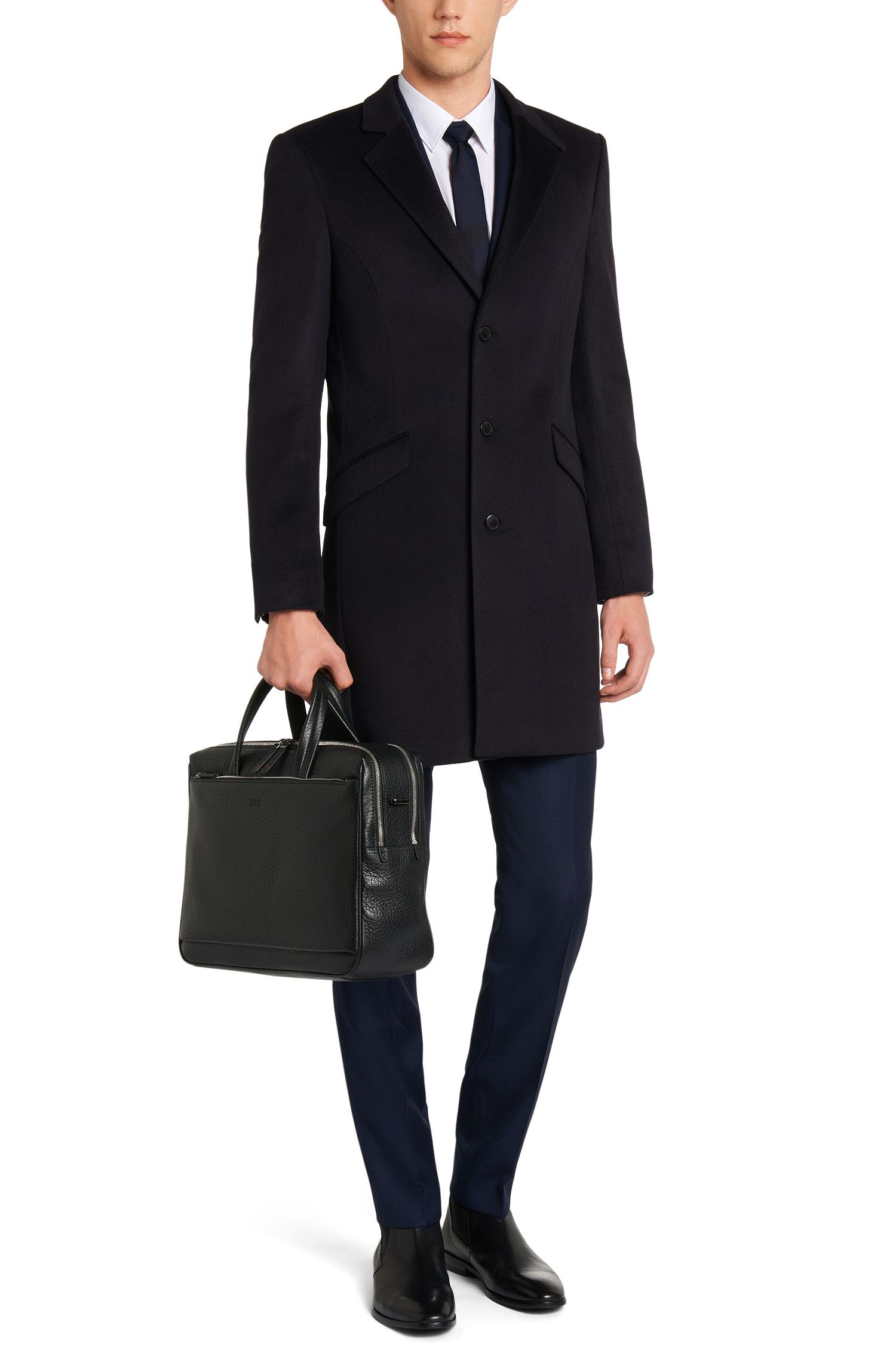 Slim-fit mantel van zuiver kasjmier: 'Atlyn'