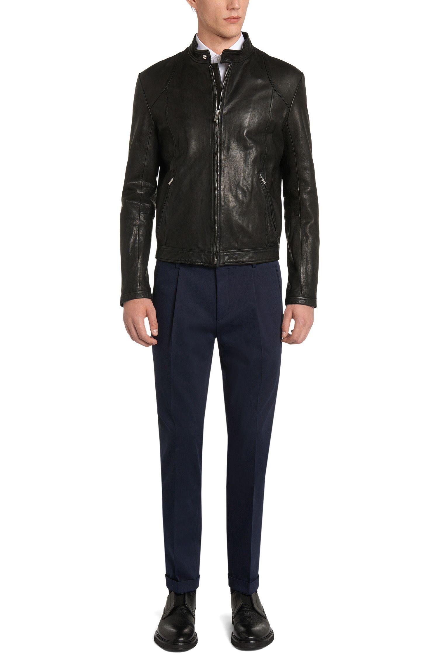 Extra Slim-Fit Hose aus Stretch-Baumwolle mit umgeschlagenen Beinabschlüssen: 'Henru'