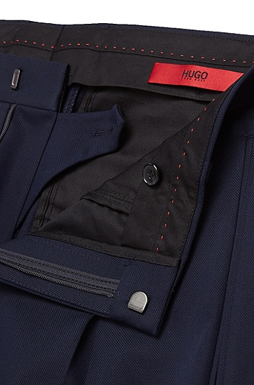 Extra Slim-Fit Hose aus Stretch-Baumwolle mit umgeschlagenen Beinabschlüssen: 'Henru', Dunkelblau
