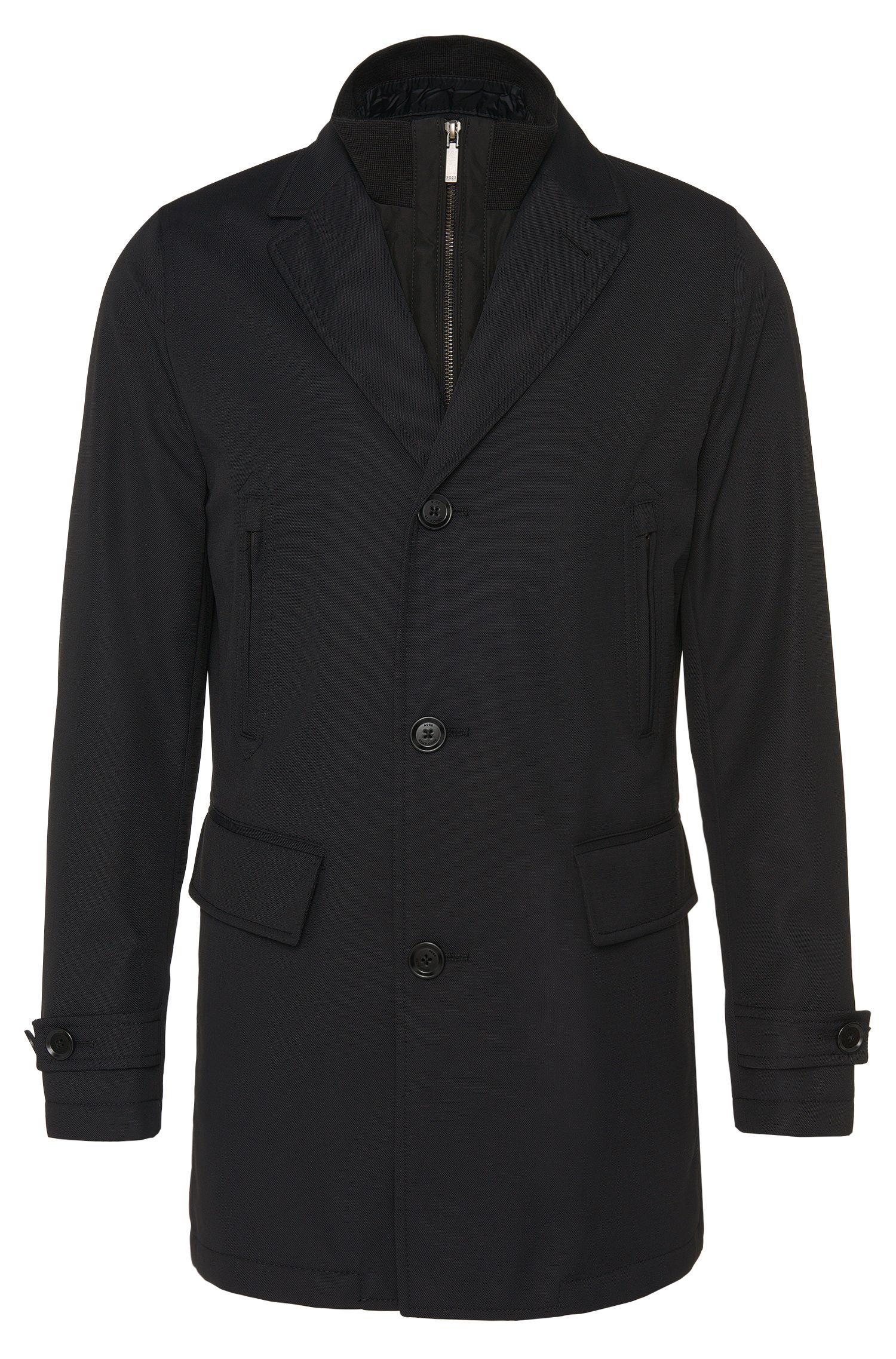 Manteau imperméable avec empiècement zippé amovible: «Conant»