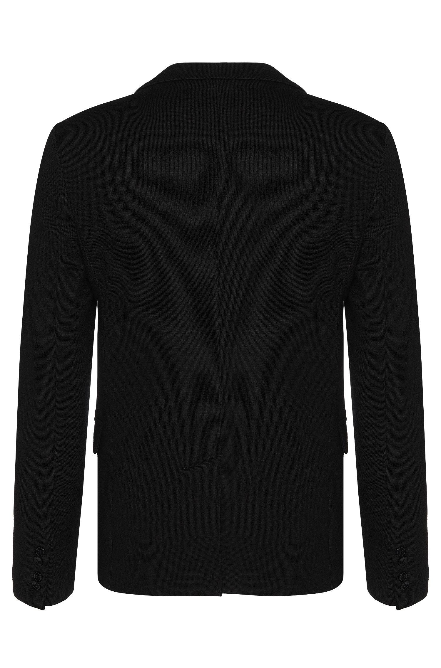 Veste de costume Slim Fit en maille de laine vierge mélangée, avec du coton: «Arwido2»
