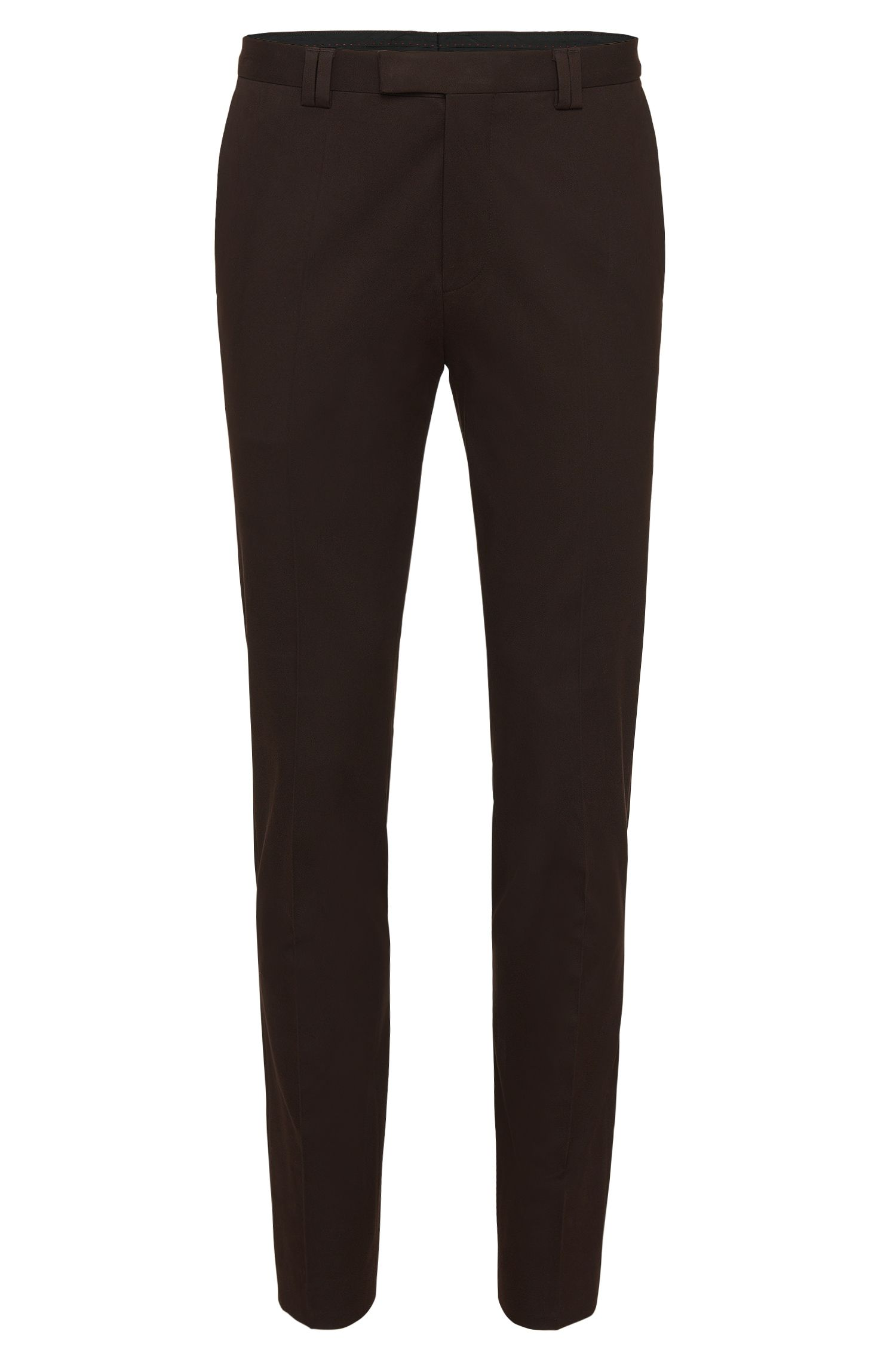 Slim-fit trousers in stretch cotton: 'Heilon'