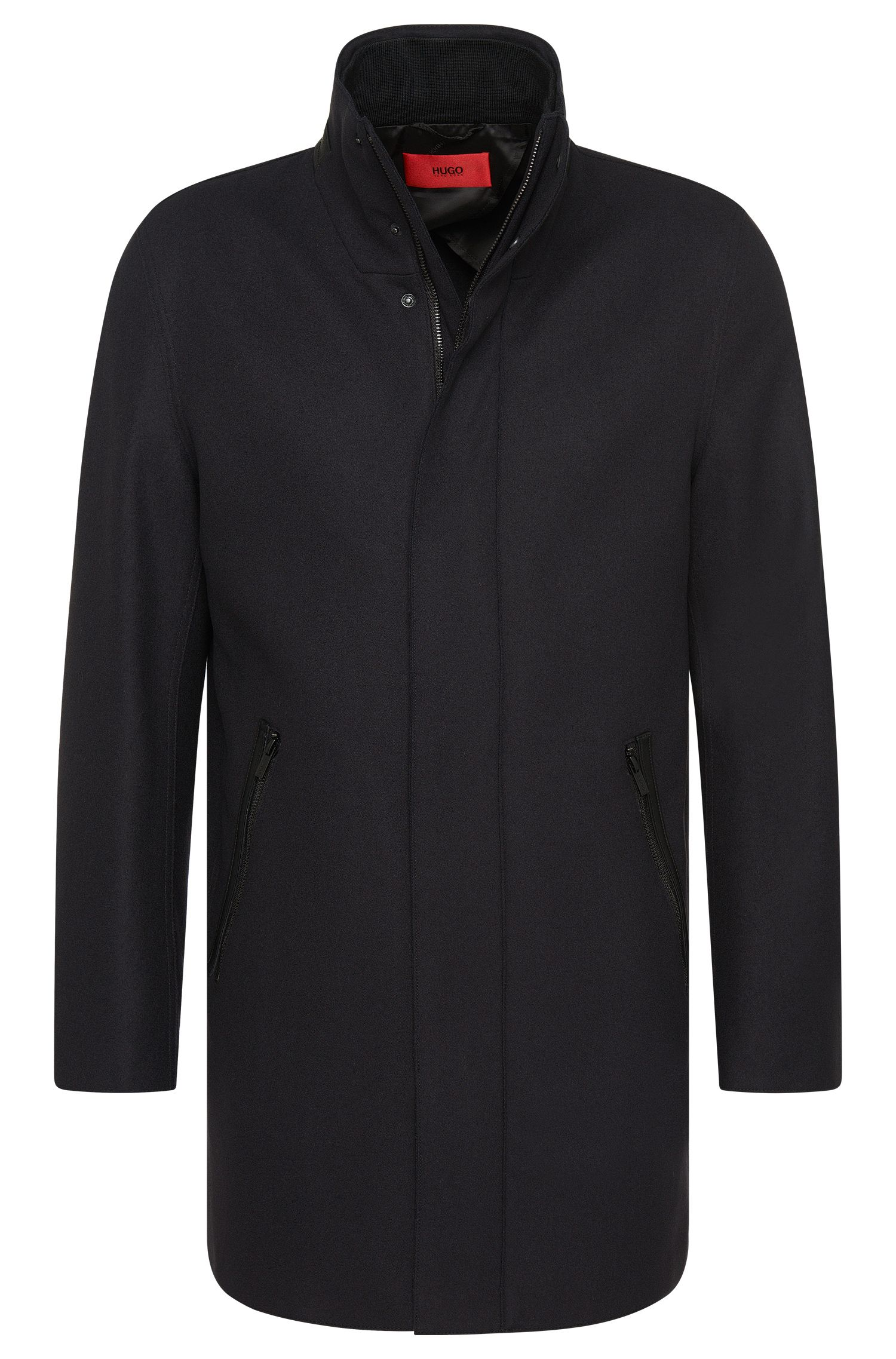 Flared coat in new-wool blend with cashmere: 'Mantek'