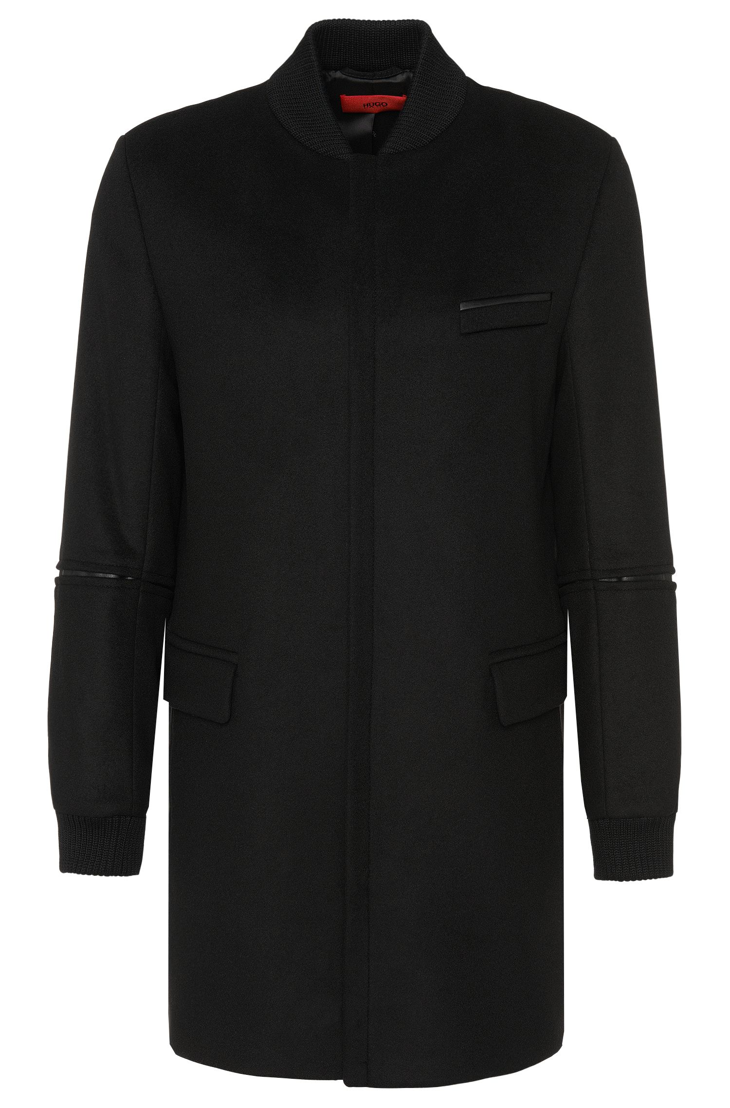 Coat in a new-wool blend with cashmere: 'Mazon'
