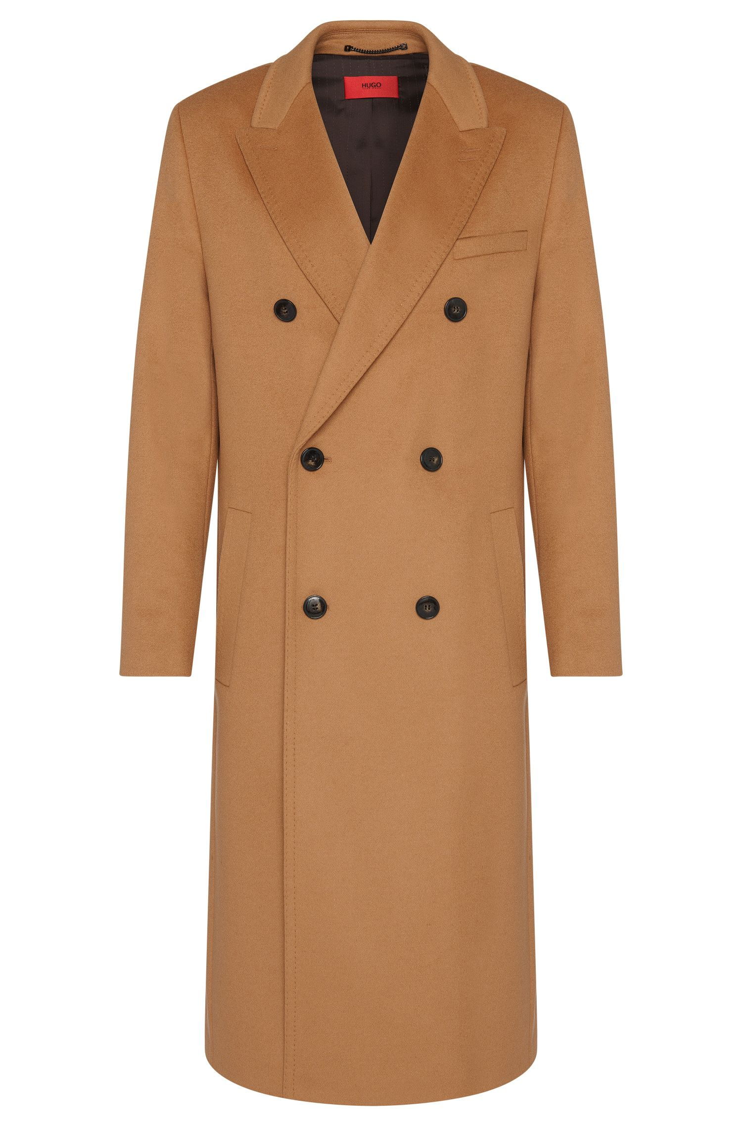Long coat in a new-wool blend with cashmere: 'Melox'