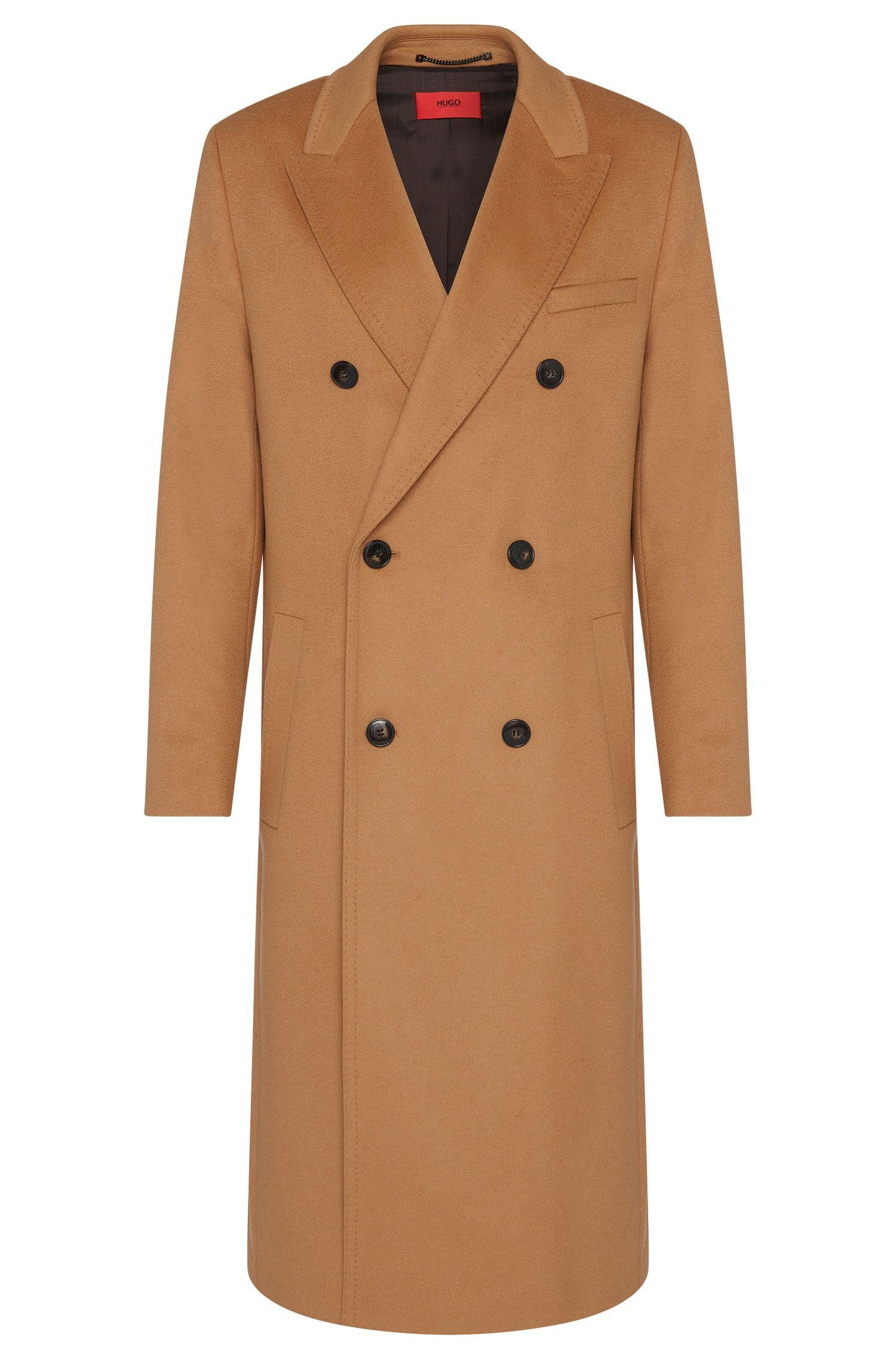 Long manteau en laine vierge mélangée à teneur en cachemire: «Melox»