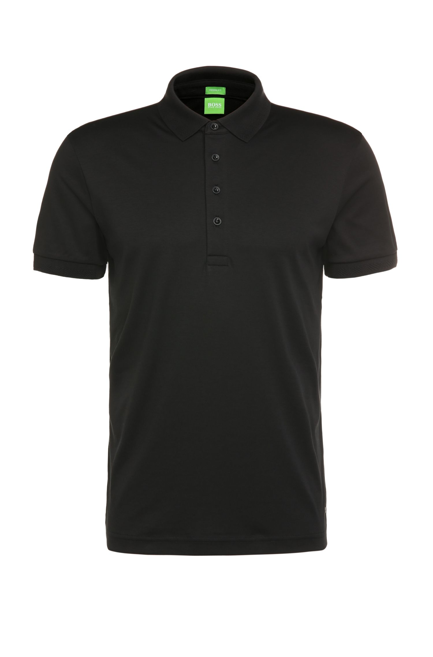 Regular-fit polo van katoenen jersey: 'C-Rapino'