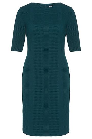 Figurbetontes Kleid mit halblangen Ärmeln: 'Heralina', Dunkelgrün